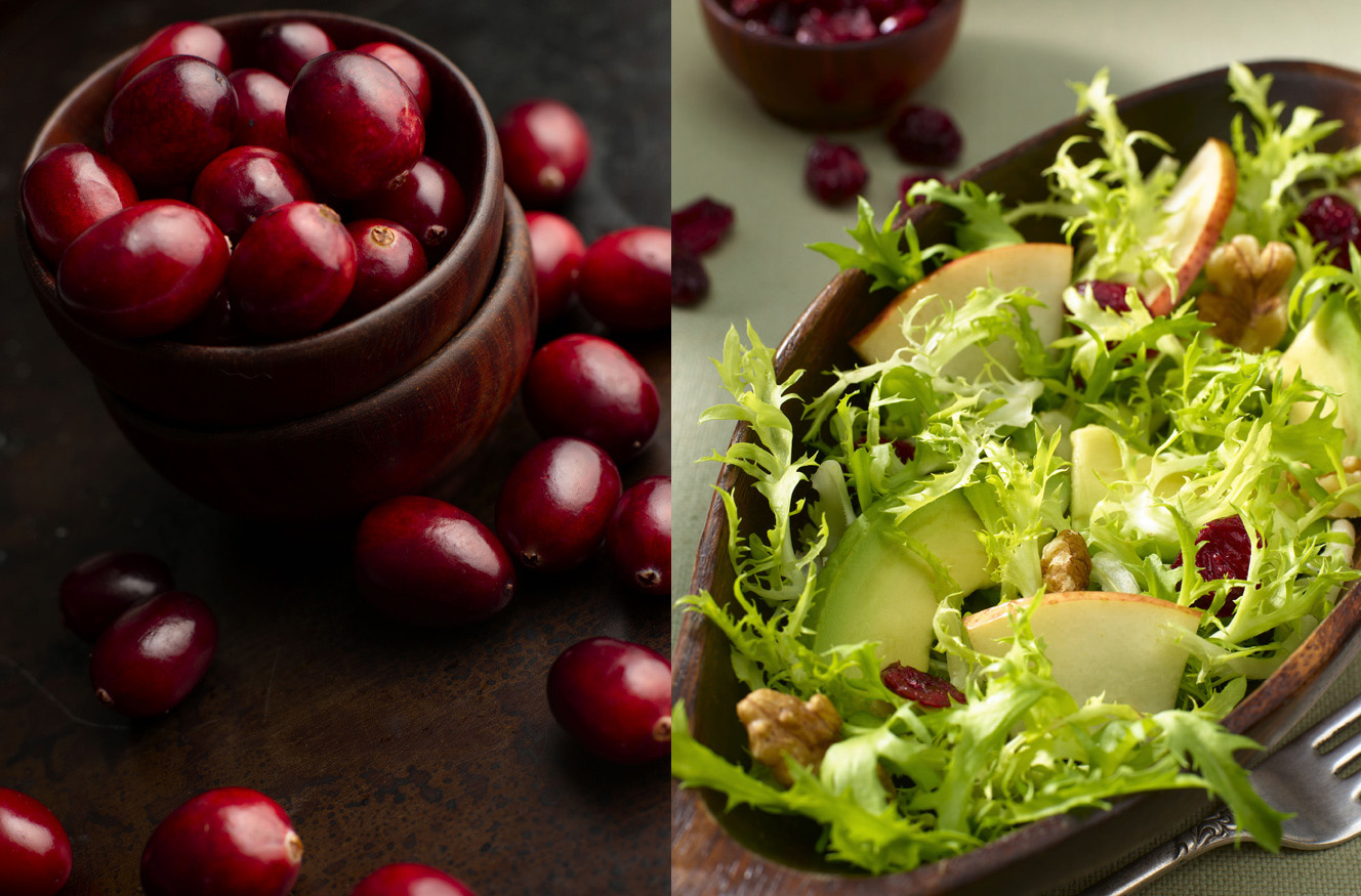 new york city photographer  new york food photographer  beverage photographer  professional photographer  food styling  prop styling  farm to table  country  window light  barnwood  editorial  advertising  close-up  digital  lifestlye  color  intensity  commercial photography  composition  concept  red  green  wood bowl  cranberries  pears  silver fork  wood bowl  frisee  avocado