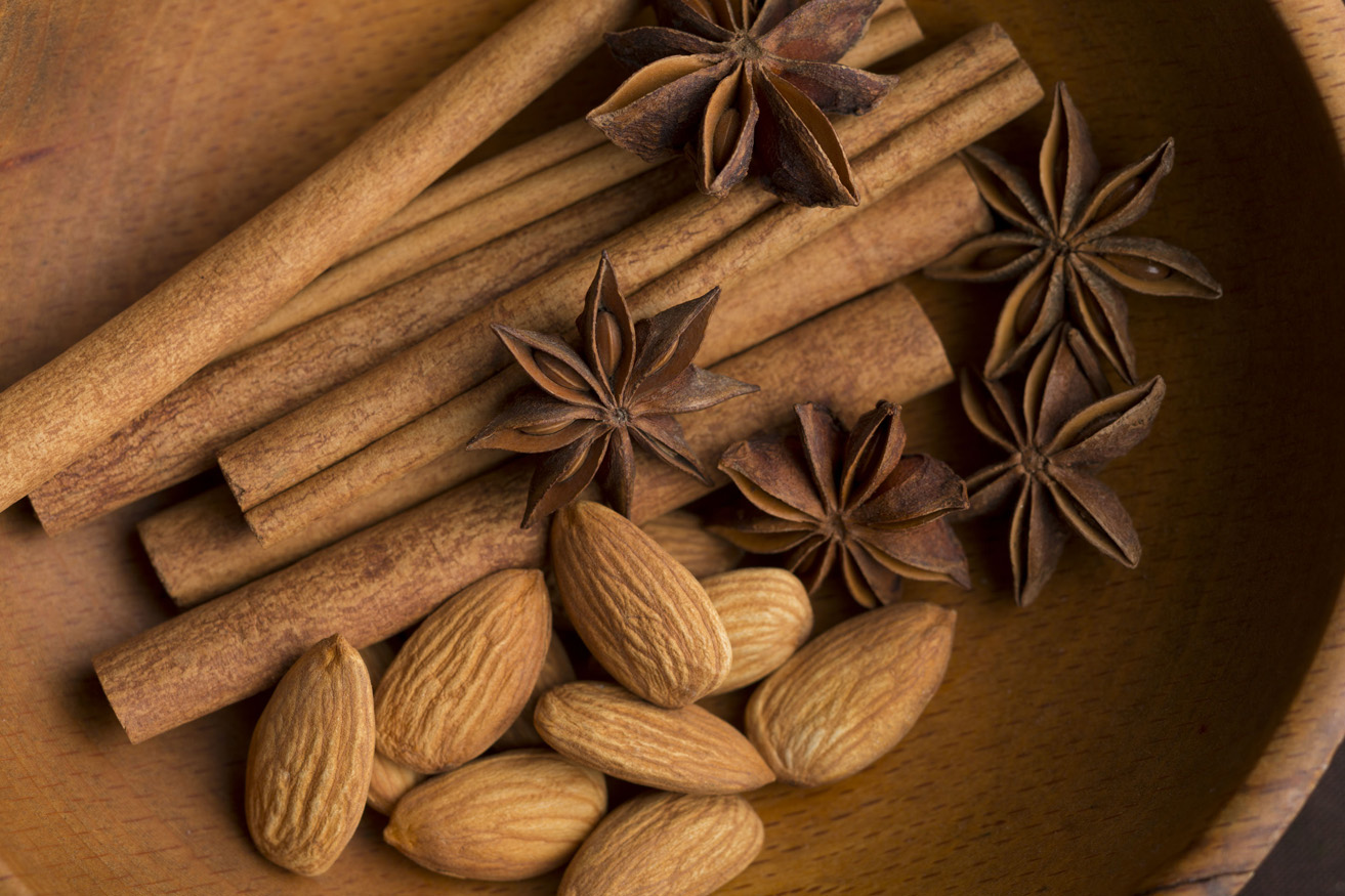 new york city photographer  new york food photographer  beverage photographer  professional photographer  food styling  prop styling  farm to table  country  window light  barnwood  editorial  advertising  close-up  digital  lifestlye  color  intensity  commercial photography  composition  concept  brown  nuts  almonds  anise  cinnamon  wood bowl