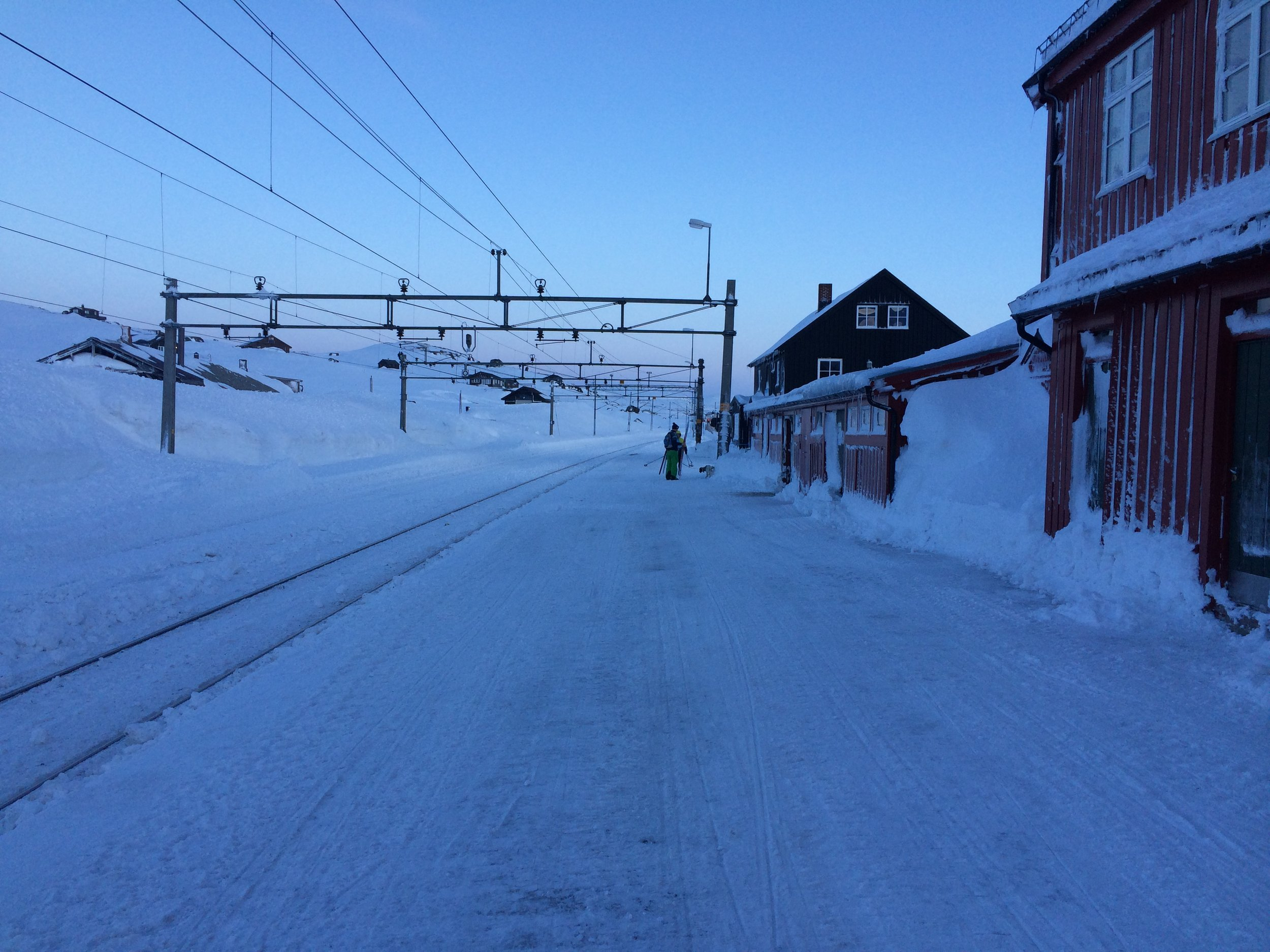 Looking back east from Finse, Norway