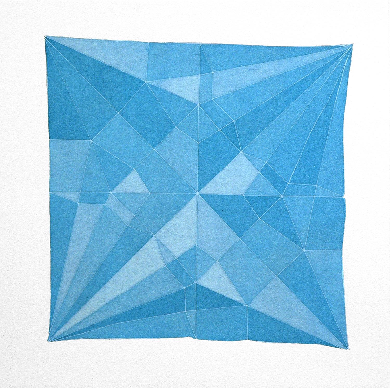 Origami Crame Blue, 2014