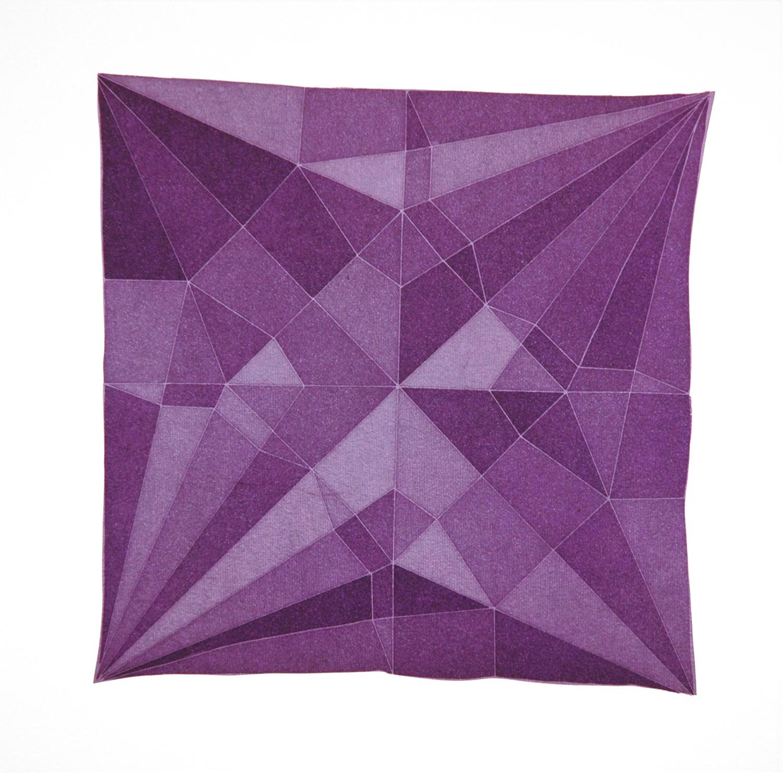 Origami Crane Purple, 2014