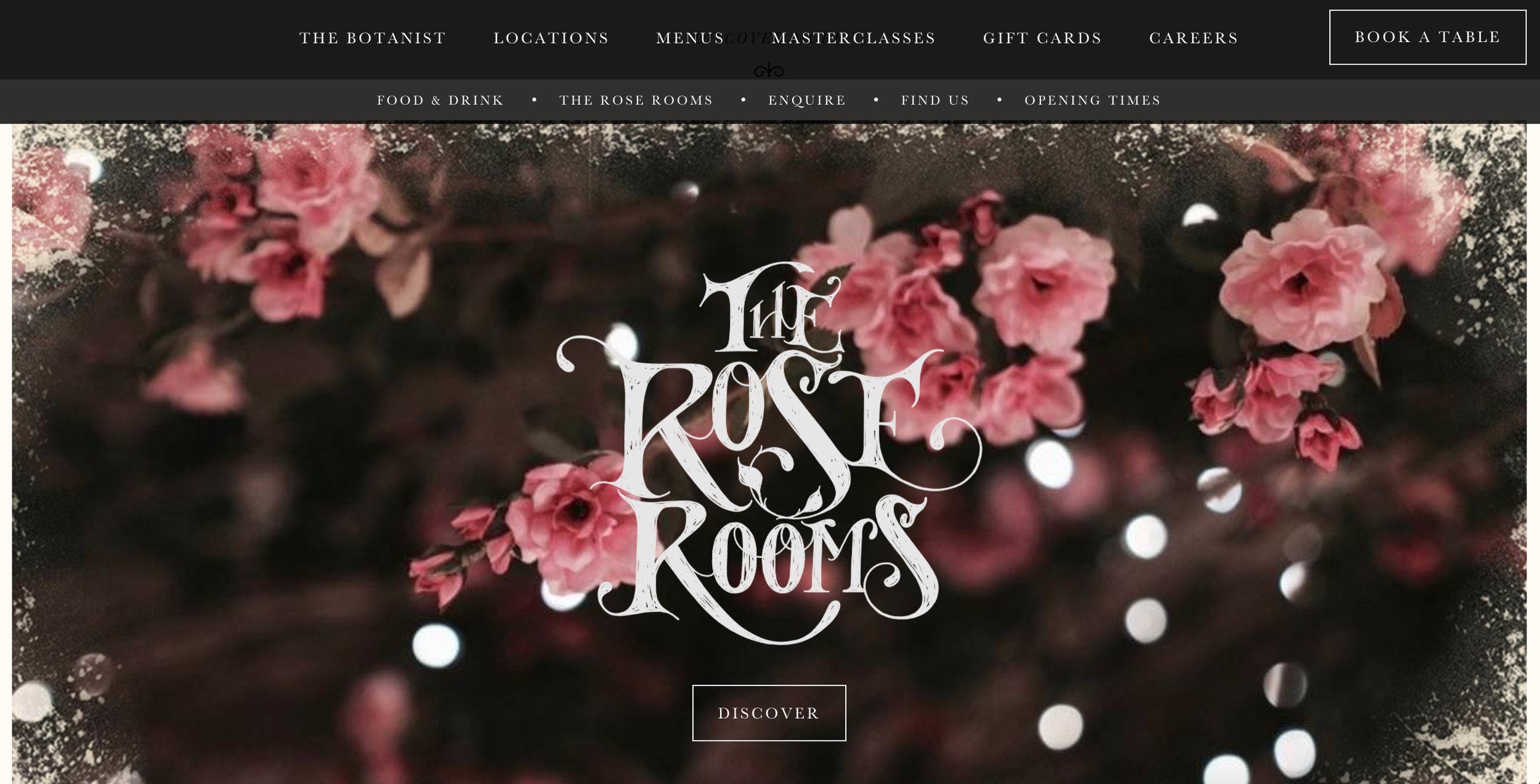 The Rose Rooms Desktop Site