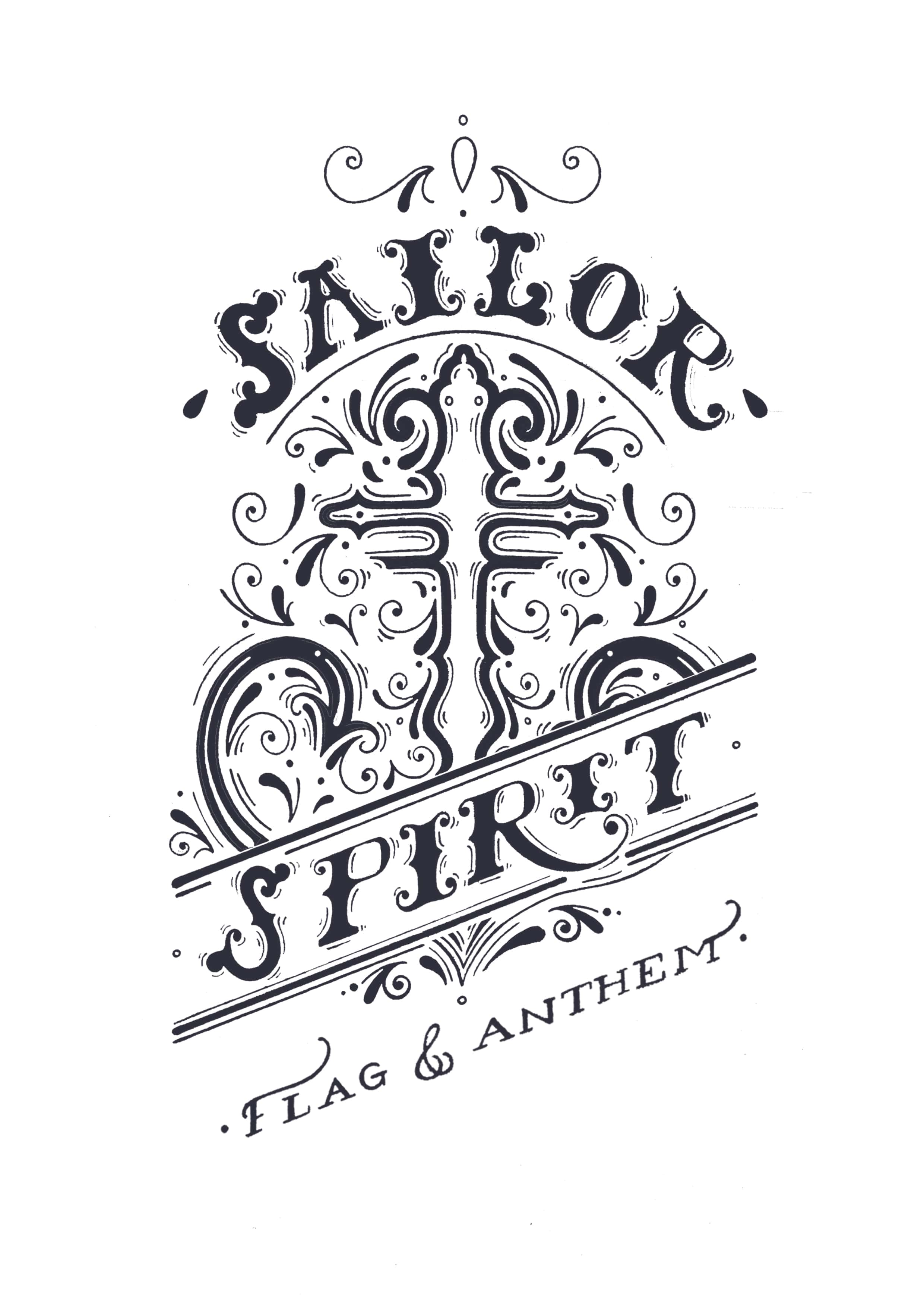 Sailor Spirit - Nautical Typographic Clothing design for Flag & Anthem Clothing, 2016.