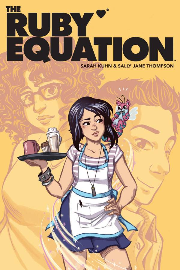 - THE RUBY EQUATION -line art(Rosy Press - Fresh Romance, 2015)On the surface, Ruby is a cynical, bored barista. Behind her facade, however, Ruby is a cynical, bored Love Emissary from another dimension. She can't wait to finish her mission so she can get to a more exciting job. Buthe regulars at the coffee shop she works at are about to teach her a lesson about love that goes well beyond logic and math.