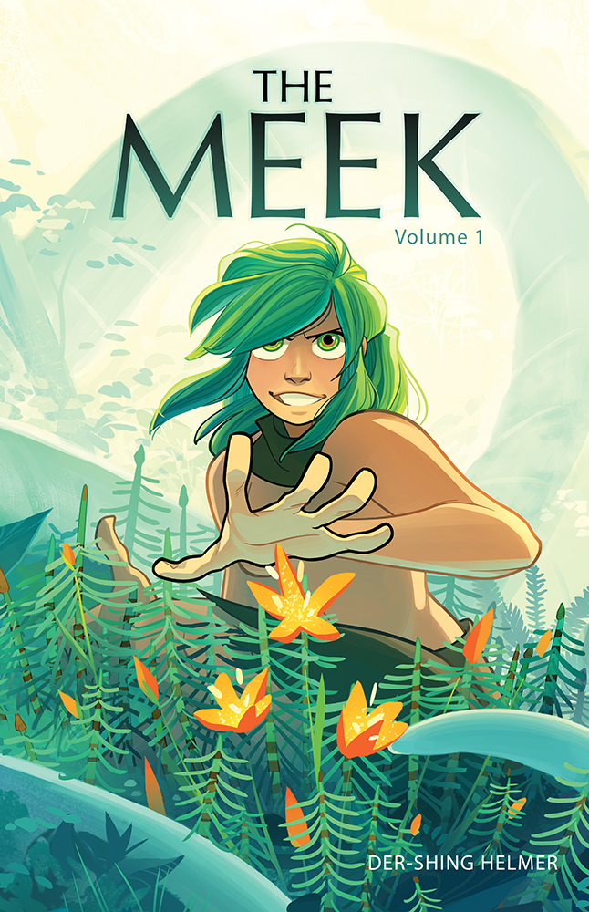 - THE MEEK(ongoing at http://www.meekcomic.com/)The Meek is a graphic novel about Angora, an inexperienced young girl who has been sent on a quest to save the world. War looms on the horizon, and at its helm is the Emperor of the North and his hellish adviser. The two countries are overwhelmed with as much terror, crime, disease and revolution as they are with those who wish to create peace.Armed with only her instincts and an unexplainable power, Angora must experience and judge the world—and decide once and for all if it is truly worth saving.