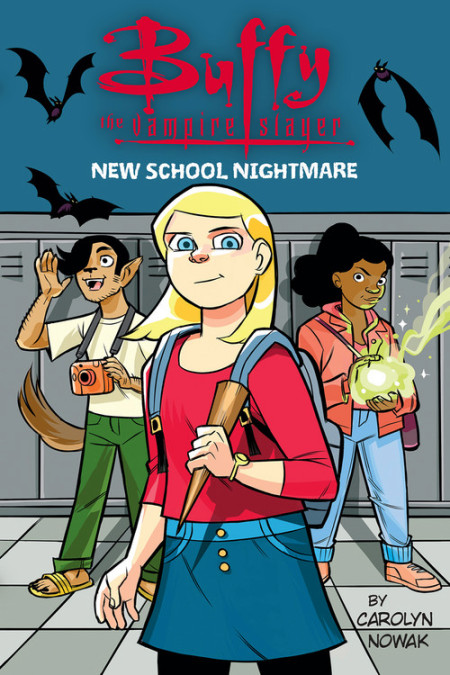 - BUFFY THE VAMPIRE SLAYERNEW SCHOOL NIGHTMARE(Little, Brown BFYR, Sept 2018)Buffy Summers is just like any other student... except for the part where she's also a secret vampire slayer. In every generation, one girl is granted great strength to stand against the forces of darkness. Of course, power doesn't matter when it comes to eating lunch alone, getting picked on by the popular kids, or having way too much homework.Luckily, Buffy finds her way with a can-do attitude, a weird Watcher, and new besties, Sarafina and Alvaro - who might just have powers of their own. But will any of it be enough to turn the tide when an army of villainous vampires invade town? Can Buffy save herself, let alone the world?