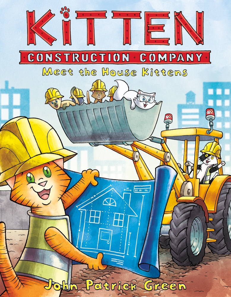 - KITTEN CONSTRUCTION COMPANY:Meet the House Kittens(First Second, Sept 2018)All Marmalade wants to do is build things.She is, after all, a trained architect.She's also a distractingly adorable kitten.Fed up with not being taken seriously because she's so cute, Marmalade bands together with a handful of other aspiring builders—all of them kittens. But in a world where humans call the shots, can the Kitten Construction Company prove their worth . . . without giving up the very things that make them kittens?(Don't worry, dear reader, the answer is definitely