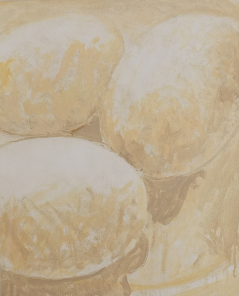 Eggs,  Oil on Wood, 16 x 20 inches, 2015