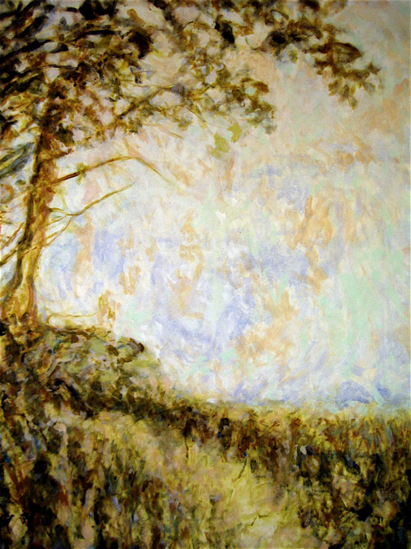 Path by Tree, Oil on Canvas, 34 x 48 inches, 2013 4