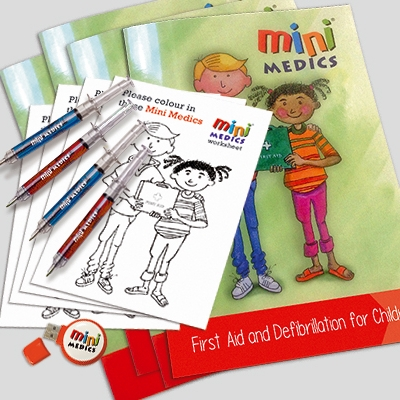 add First Aid textbooks & pens to your Mini medics session