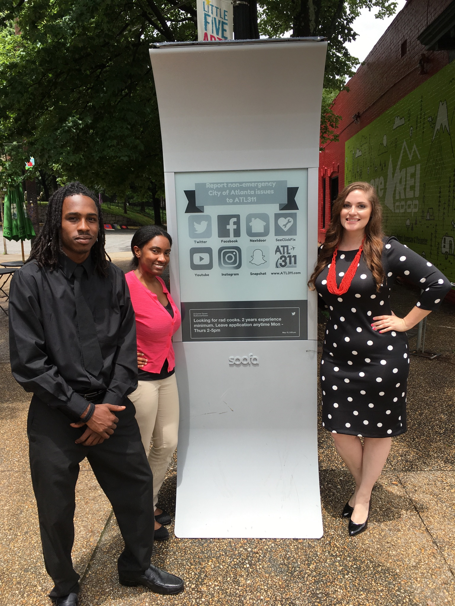 ATL311 Pioneers Civic Use of Soofa Signs To Engage Residents