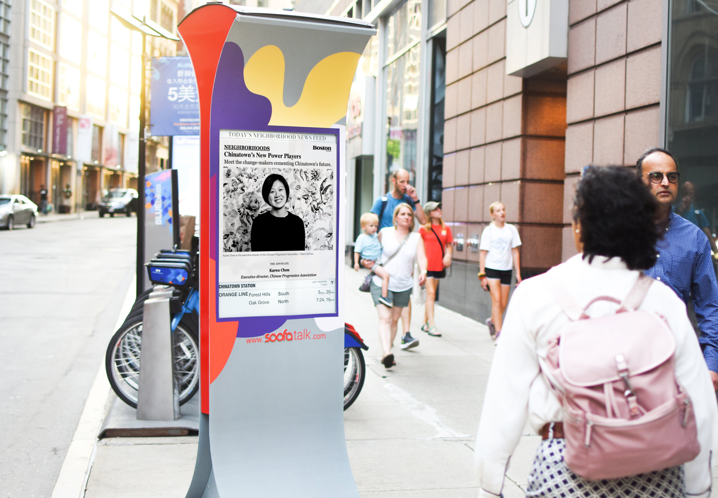 Soofa Sign in Chinatown
