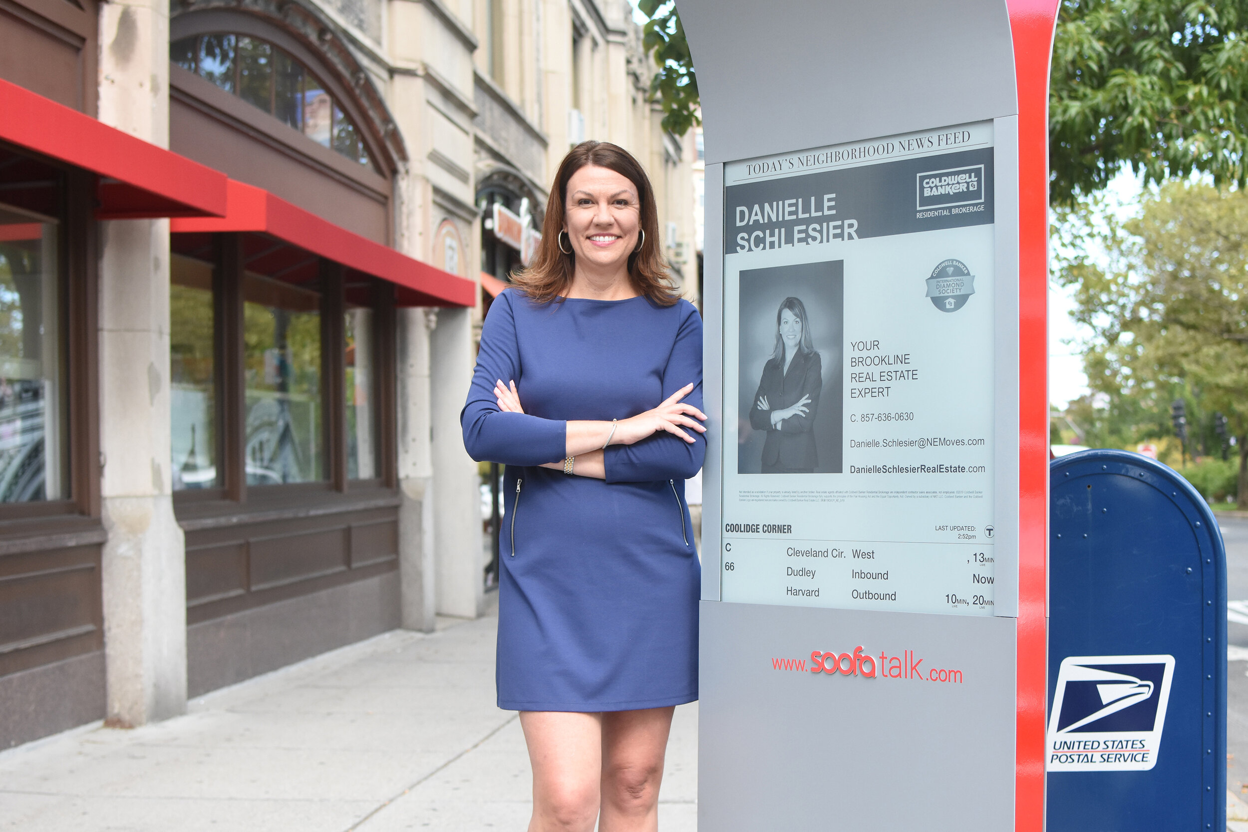 Danielle Schlesier poses with her latest Soofa content!