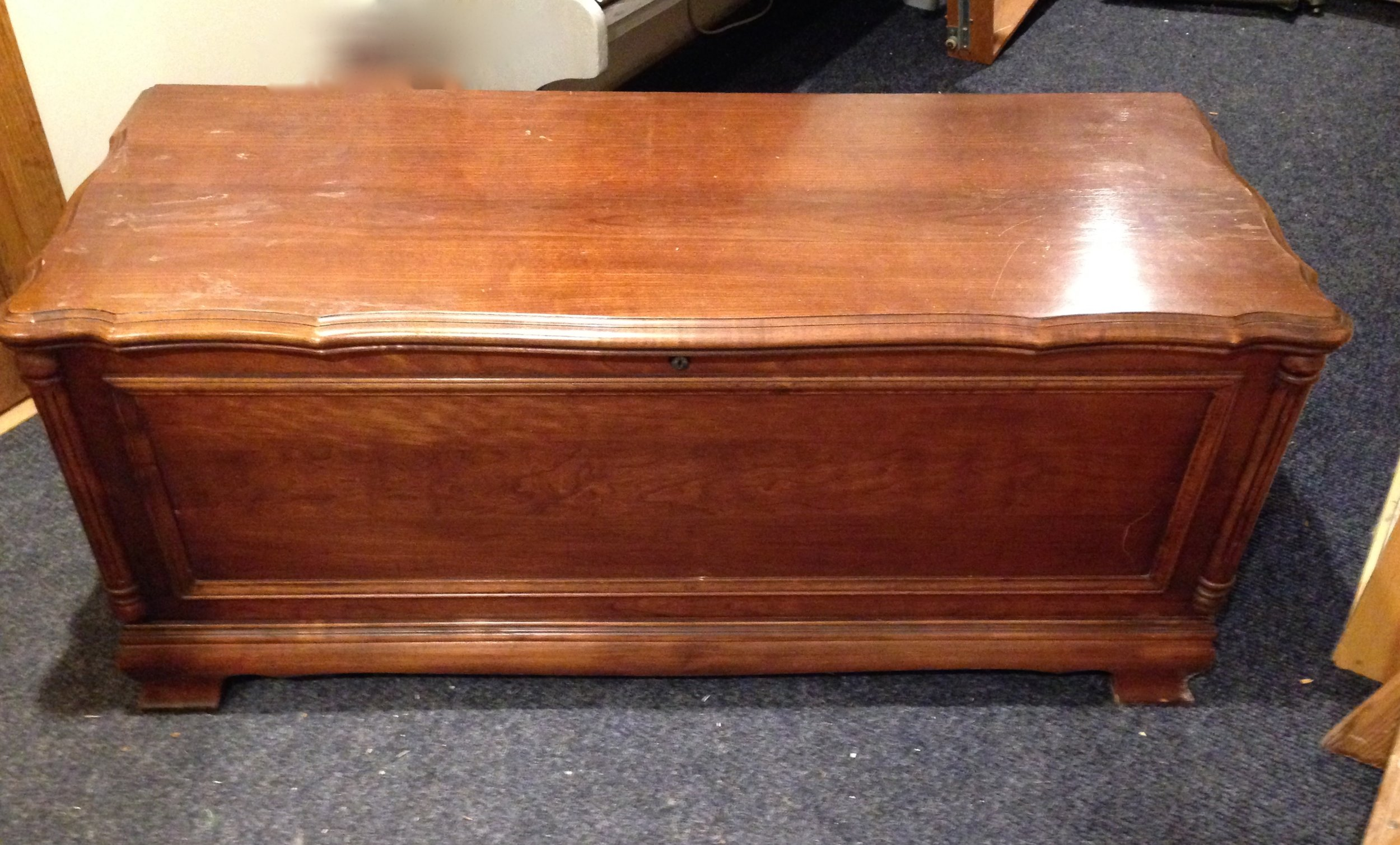 This beloved Lang hope chest was customized for a client in West Sand Lake.