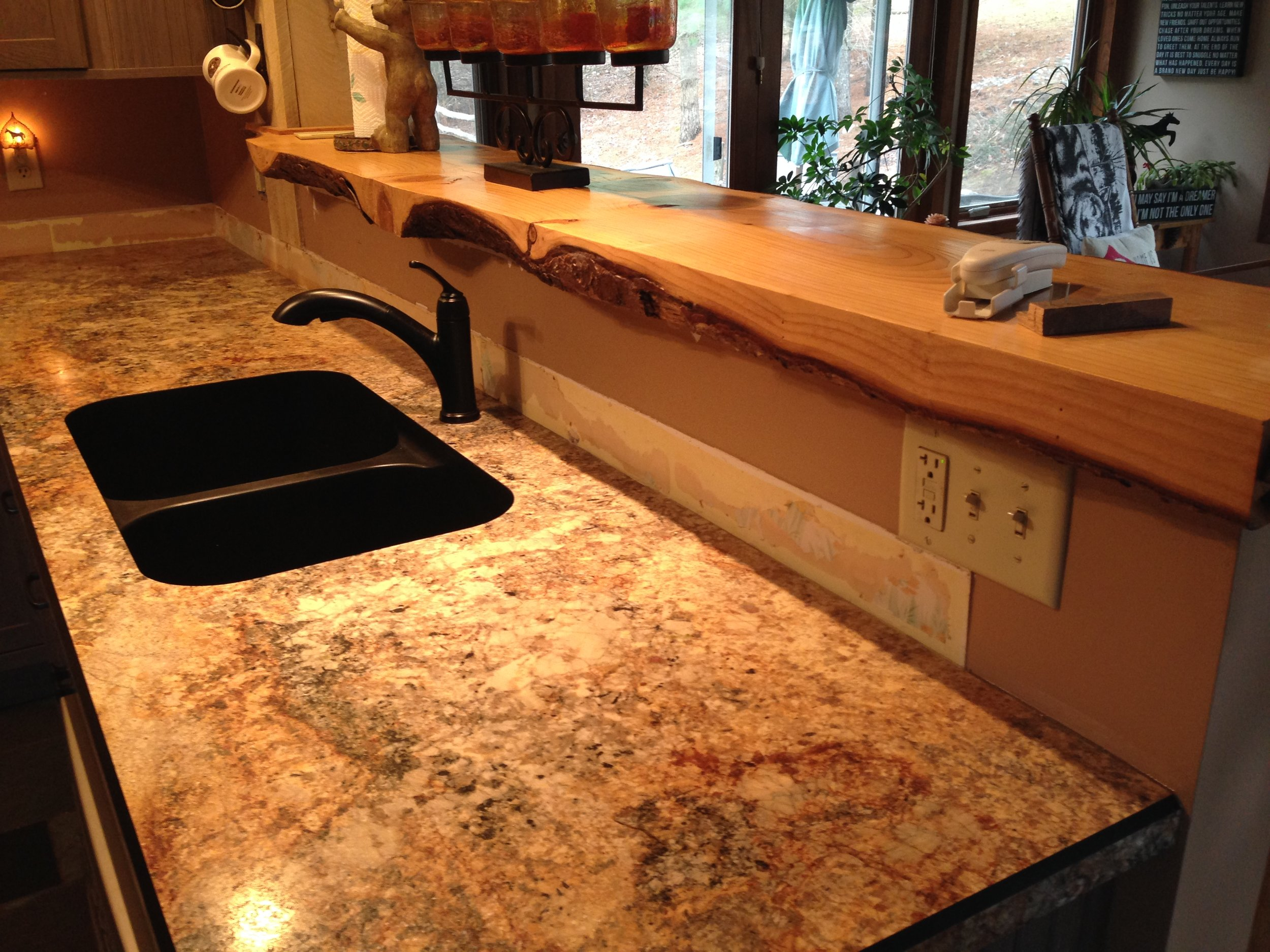 Custom backsplash to complement this rustic home in East Greenbush