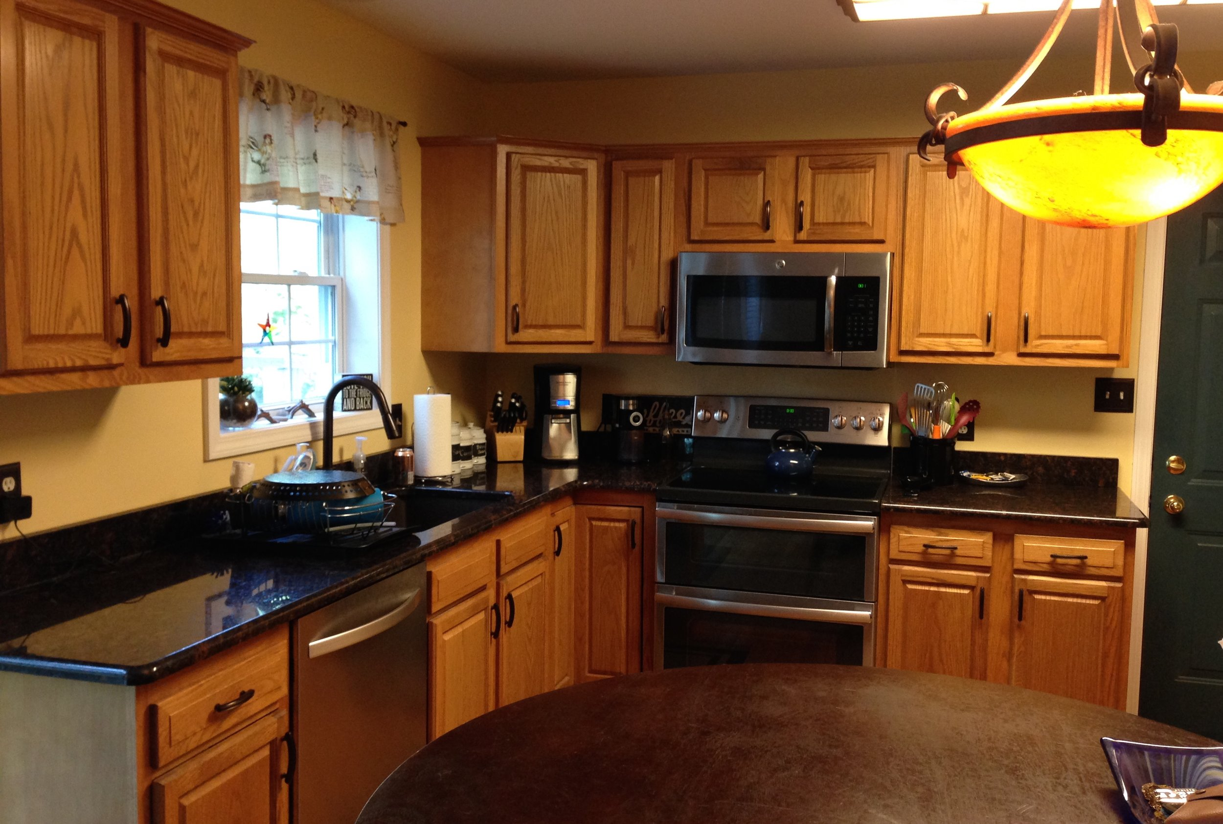 This Averill Park kitchen went from dark & drab to bright & beautiful!