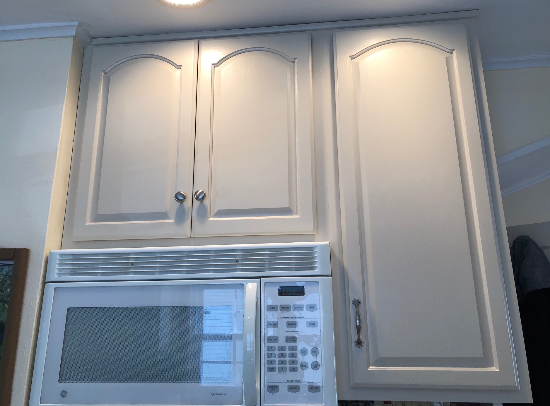 Custom paint color for these cabinets.
