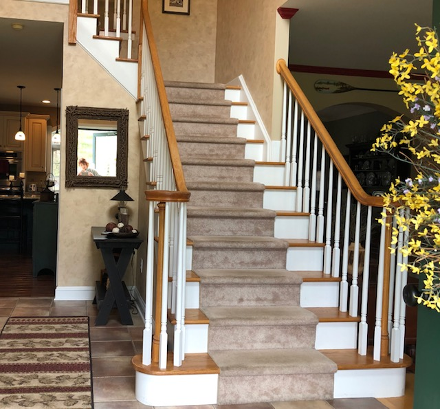 Check out this dramatic staircase makeover in Slingerlands.