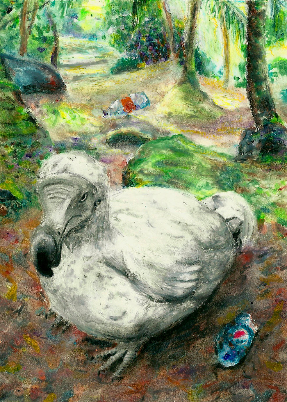 Dodo with Forest Litter