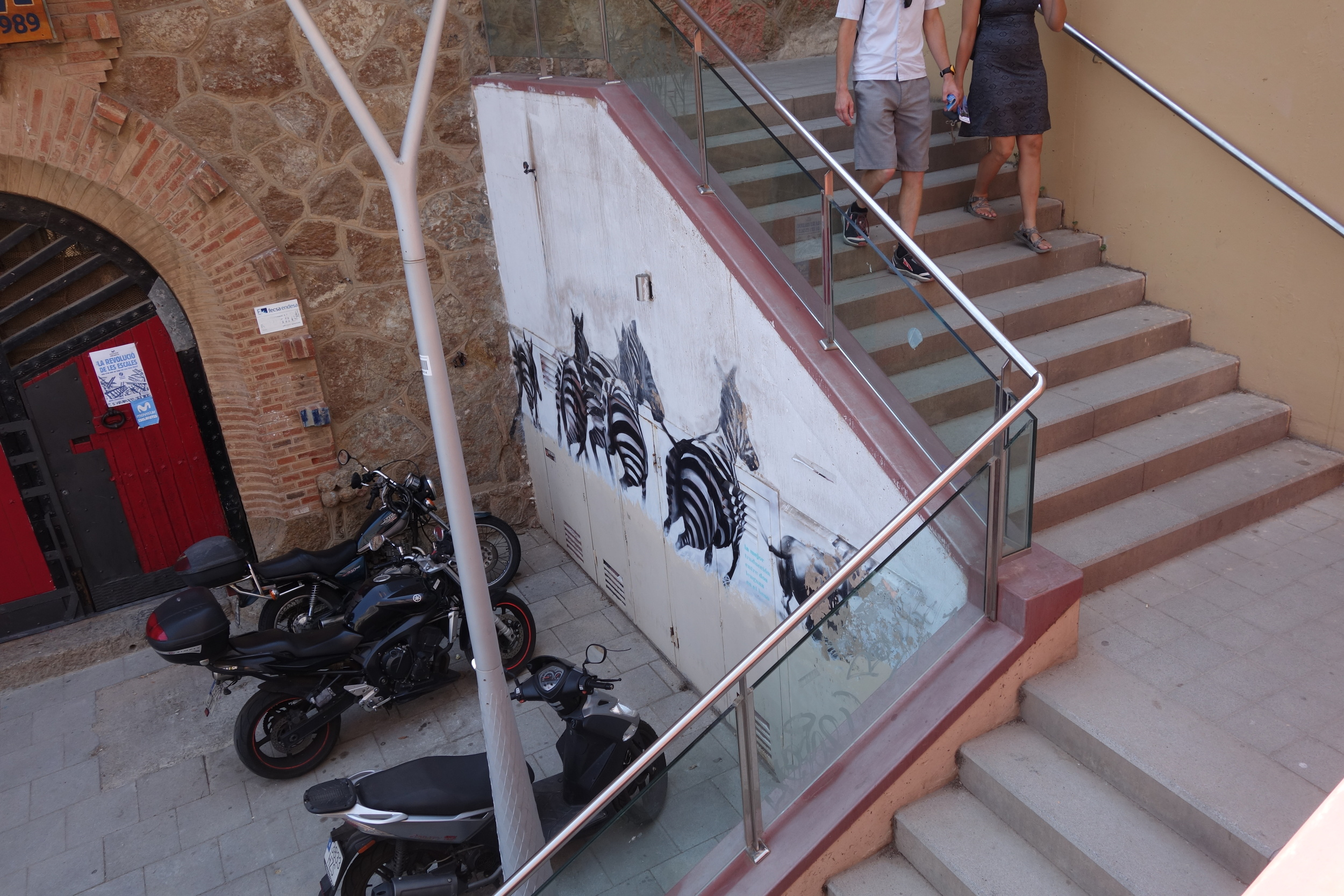 I liked this mural on the hike up to Park Guell