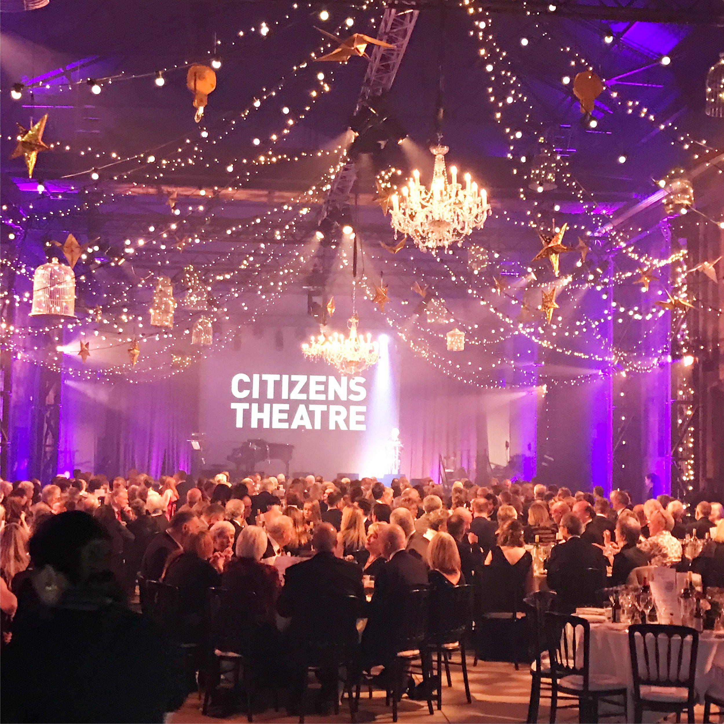 Citizens Theatre Glasgow Gala Dinner Event