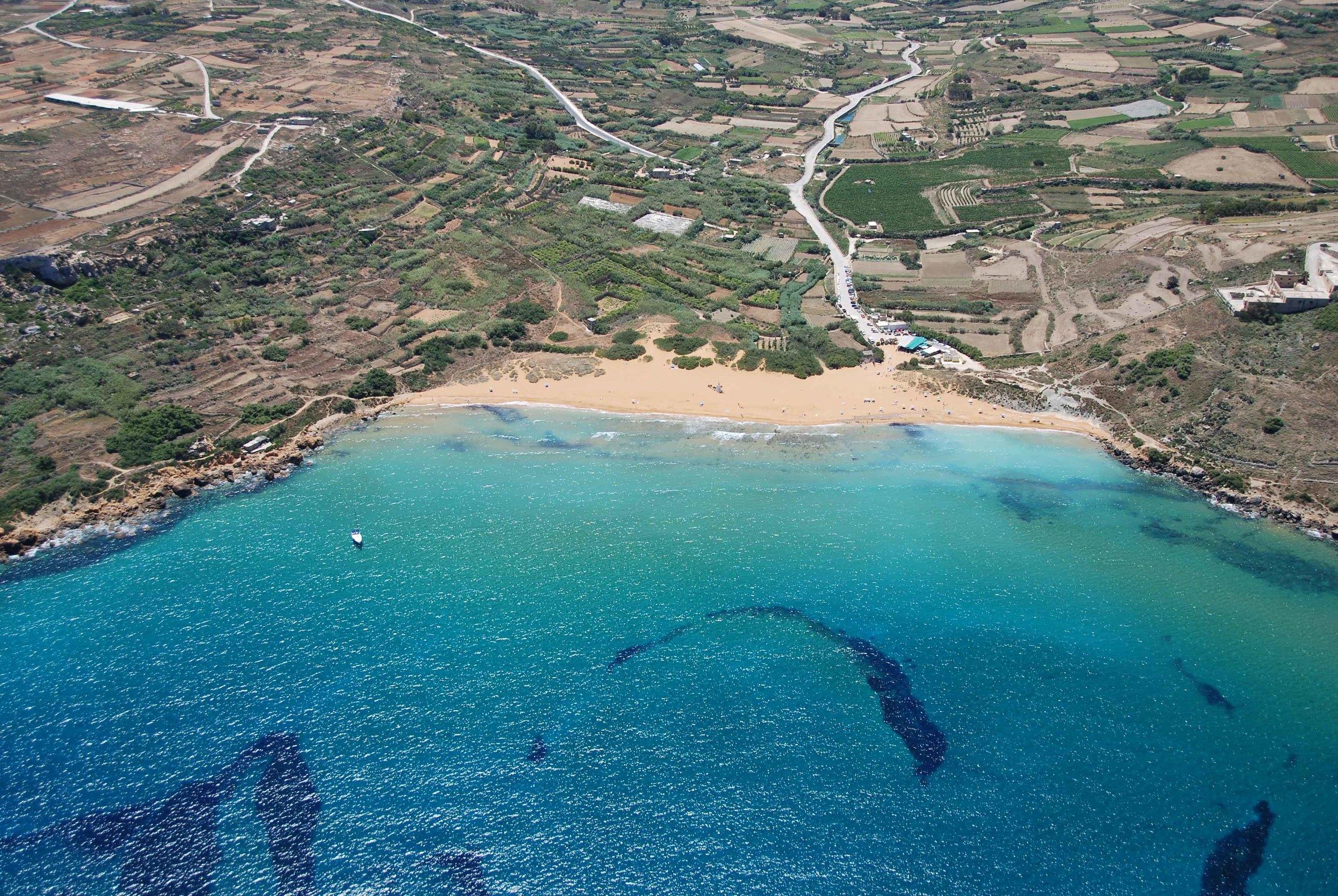 Gozo - Ramla Bay Aerial View by Jurgen Scicluna