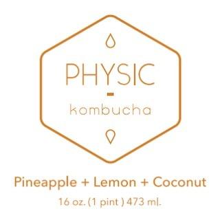 Physic Kombucha label design.