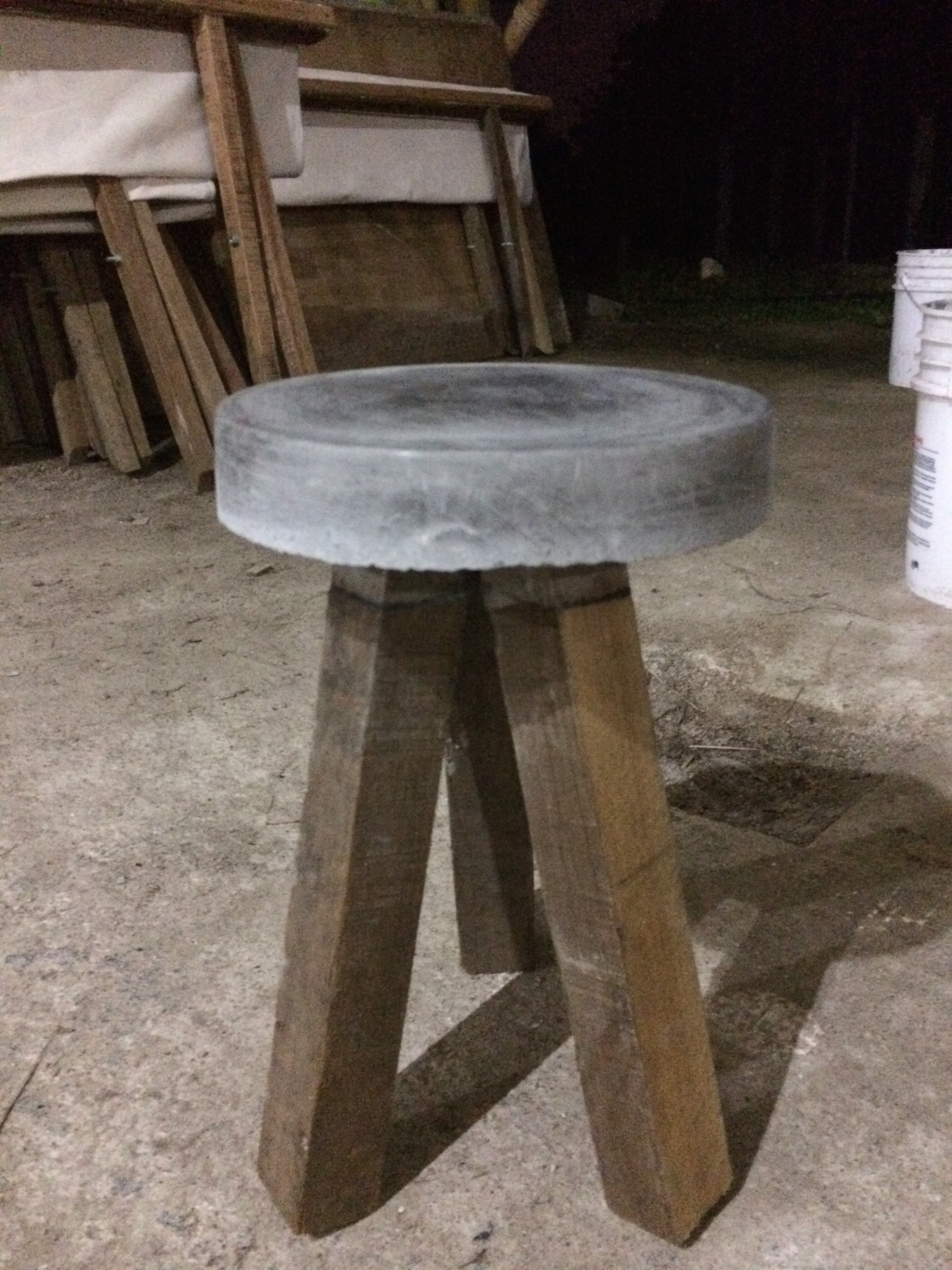 Our stools were a (somewhat wobbly) success!