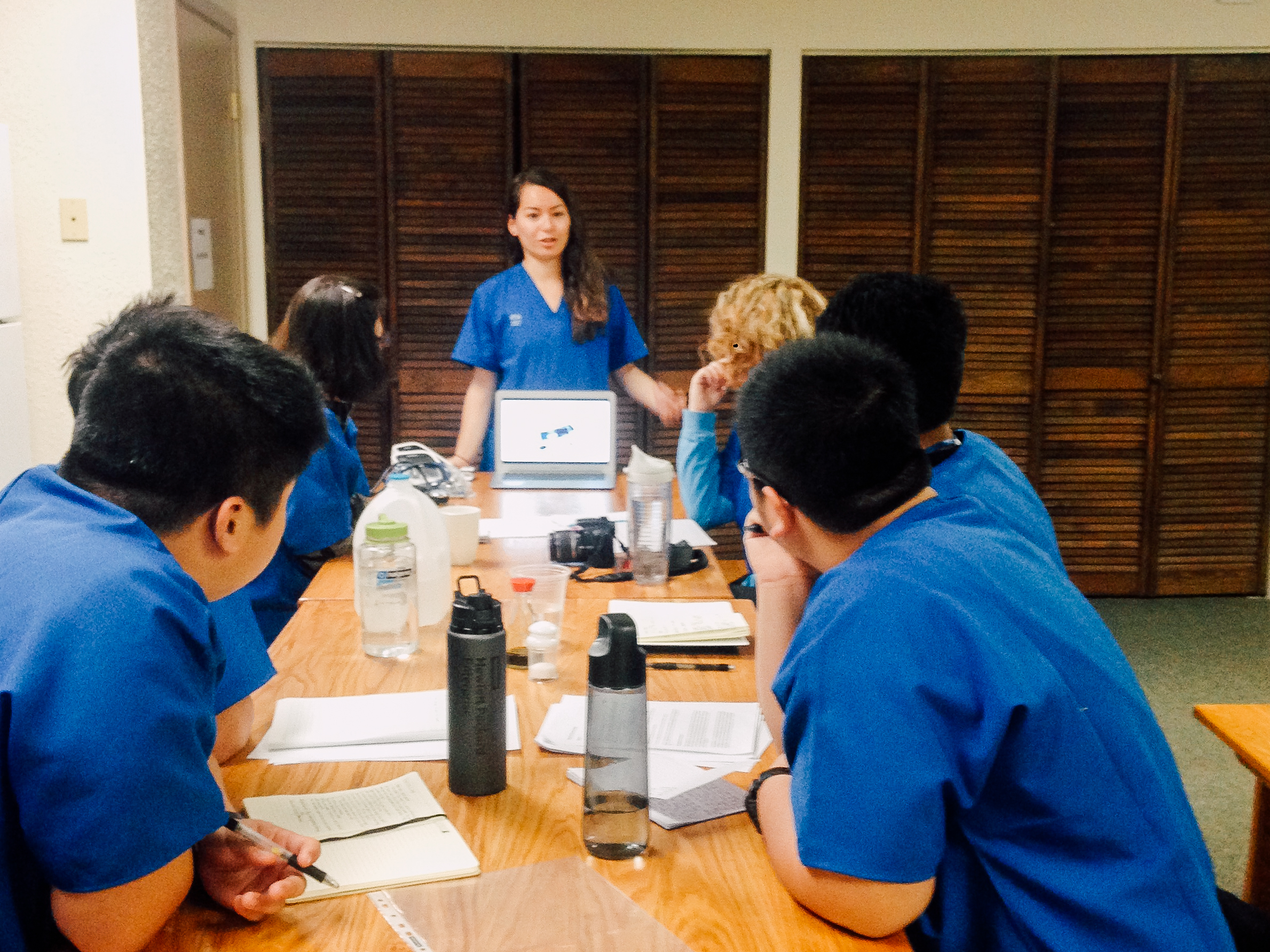 A meeting with the medical fellows