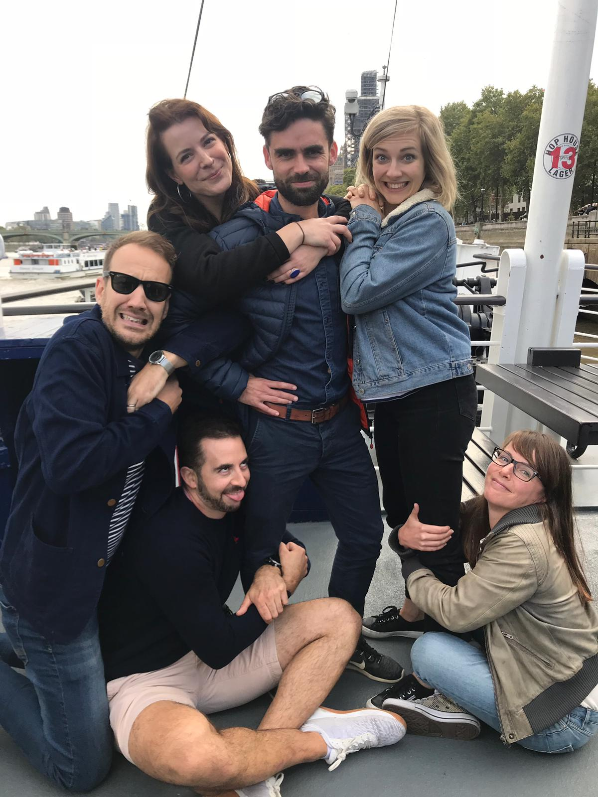Awkward family photo challenge at a 30th celebration