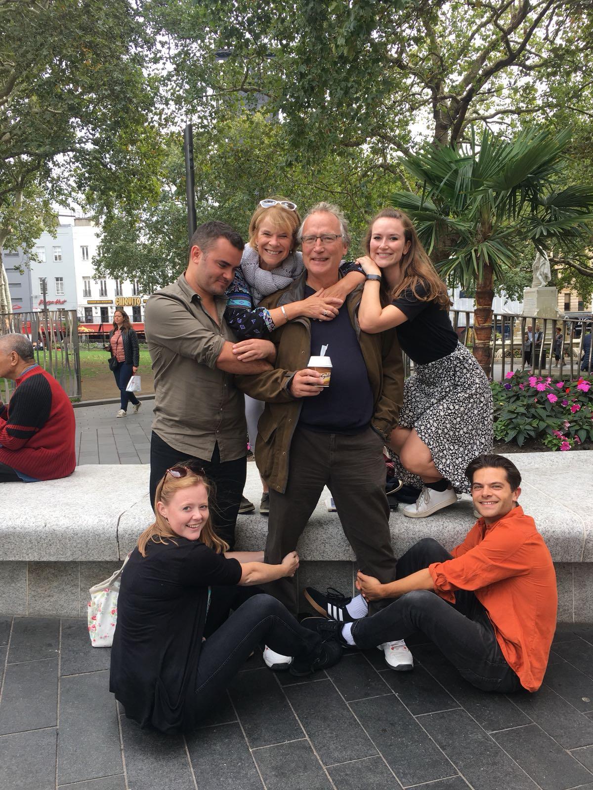 Awkward family photo challenge at a 50th celebration