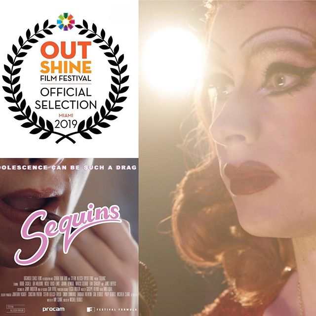 It's a fine end to the week with our next official festival selection to announce. Sequins is off to Miami, Florida to the Out Shine Film Festival. #sequinsfilm #dragfilm #lgbtq #lgbtfilm #shortfilm #outshinefilmfestival #florida #miami #dragqueen #filmfestival