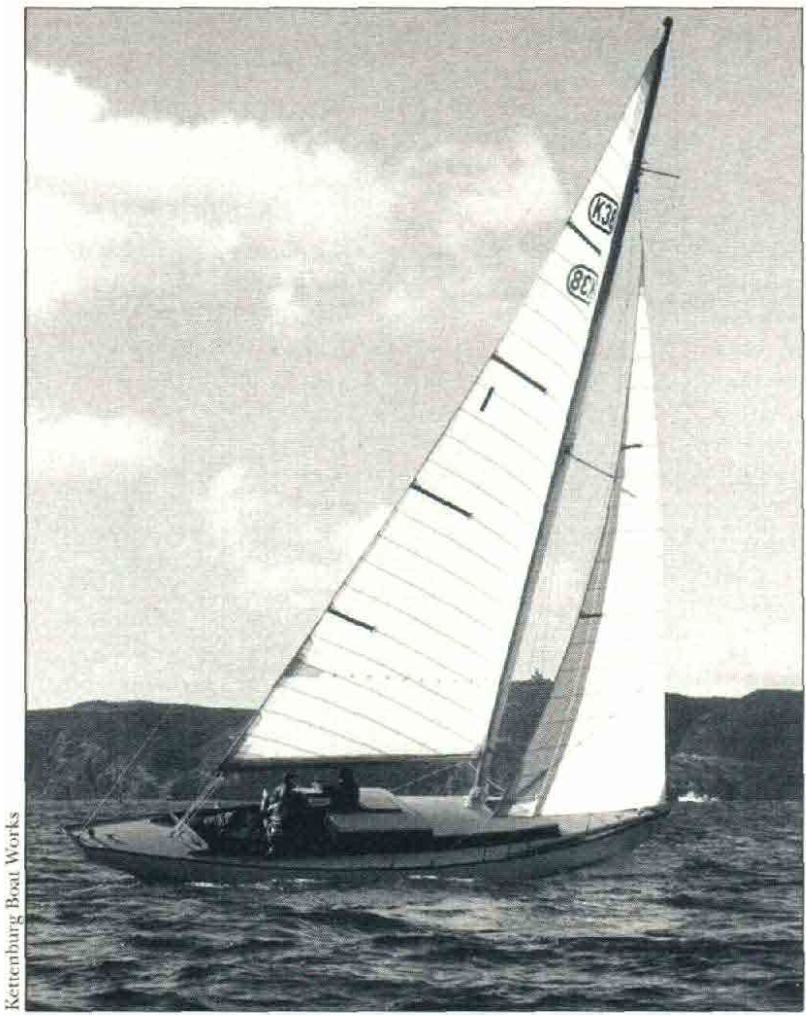 Paul Kettenburg's first design, the K-38 was a popular and affordable racer-cruiser, based on the PCC hull and first launched in 1949