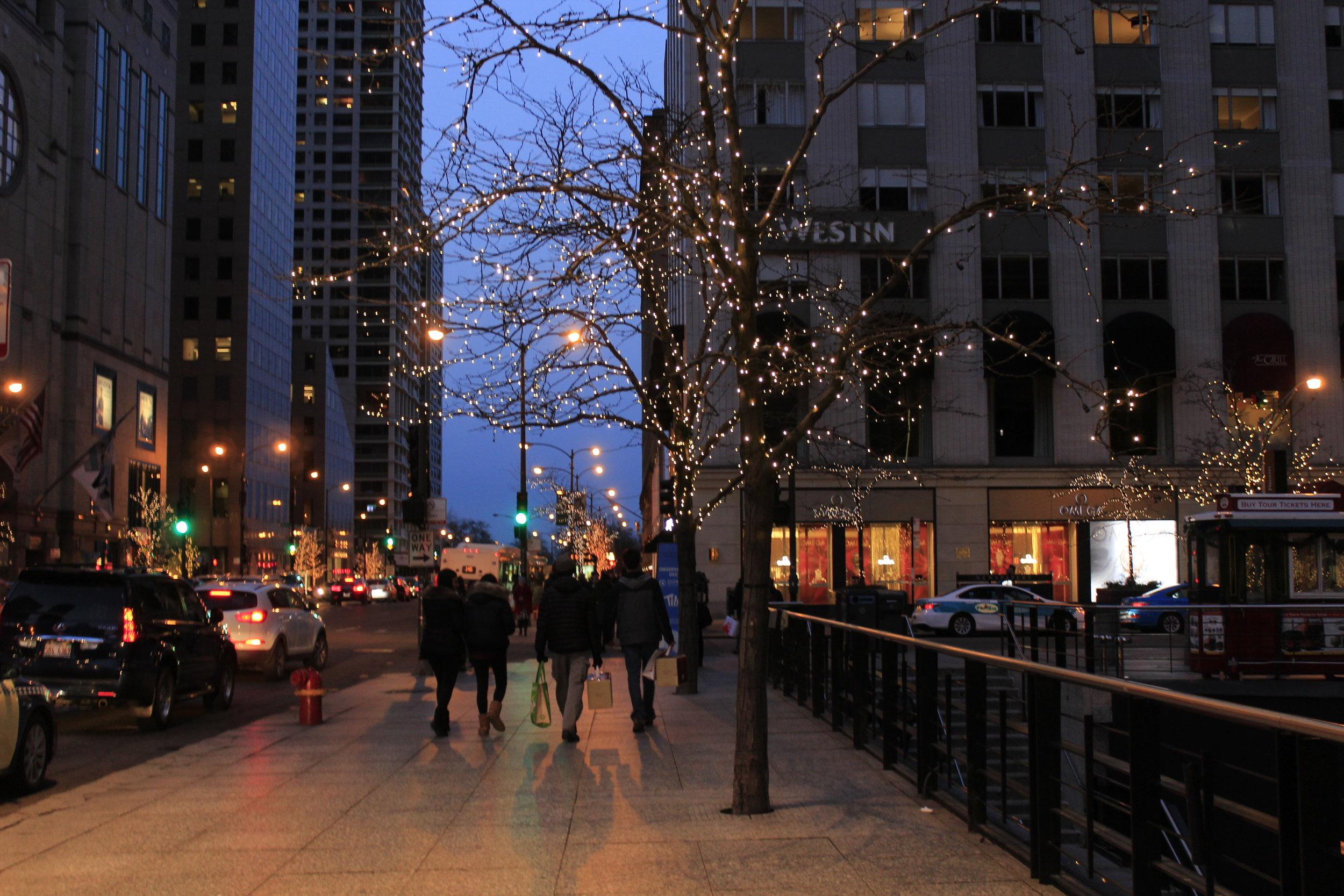 city sidewalk, pretty sidewalk (Chicago)
