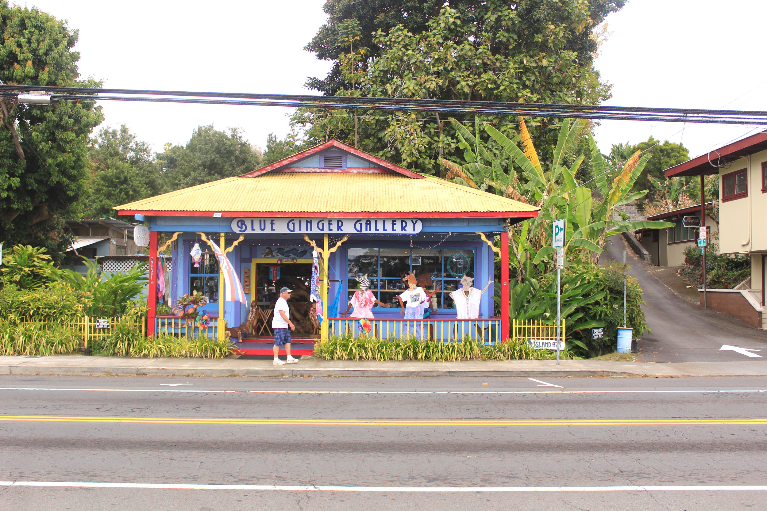 Tiny town of Kainaliu, Hawaii
