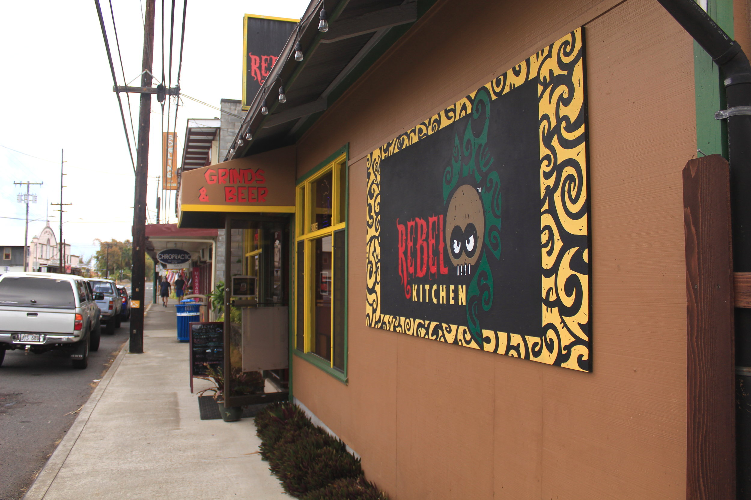 Rebel Kitchen in Kainaliu, Kona, Hawaii