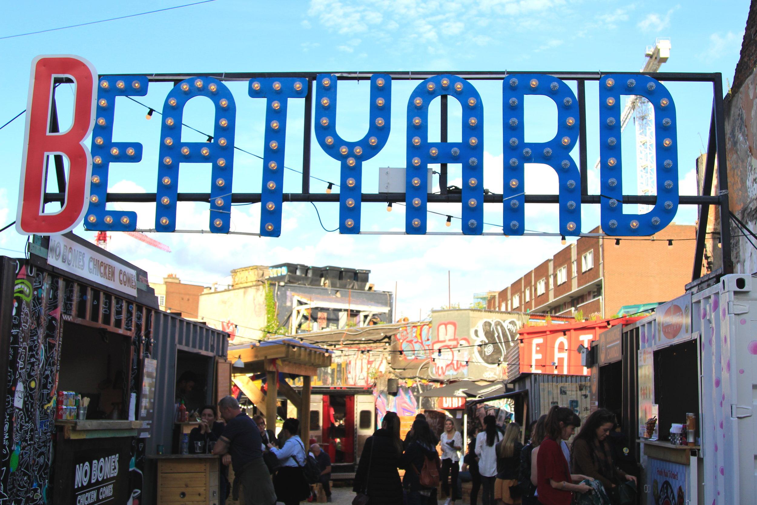 Beatyard food scene, Dublin