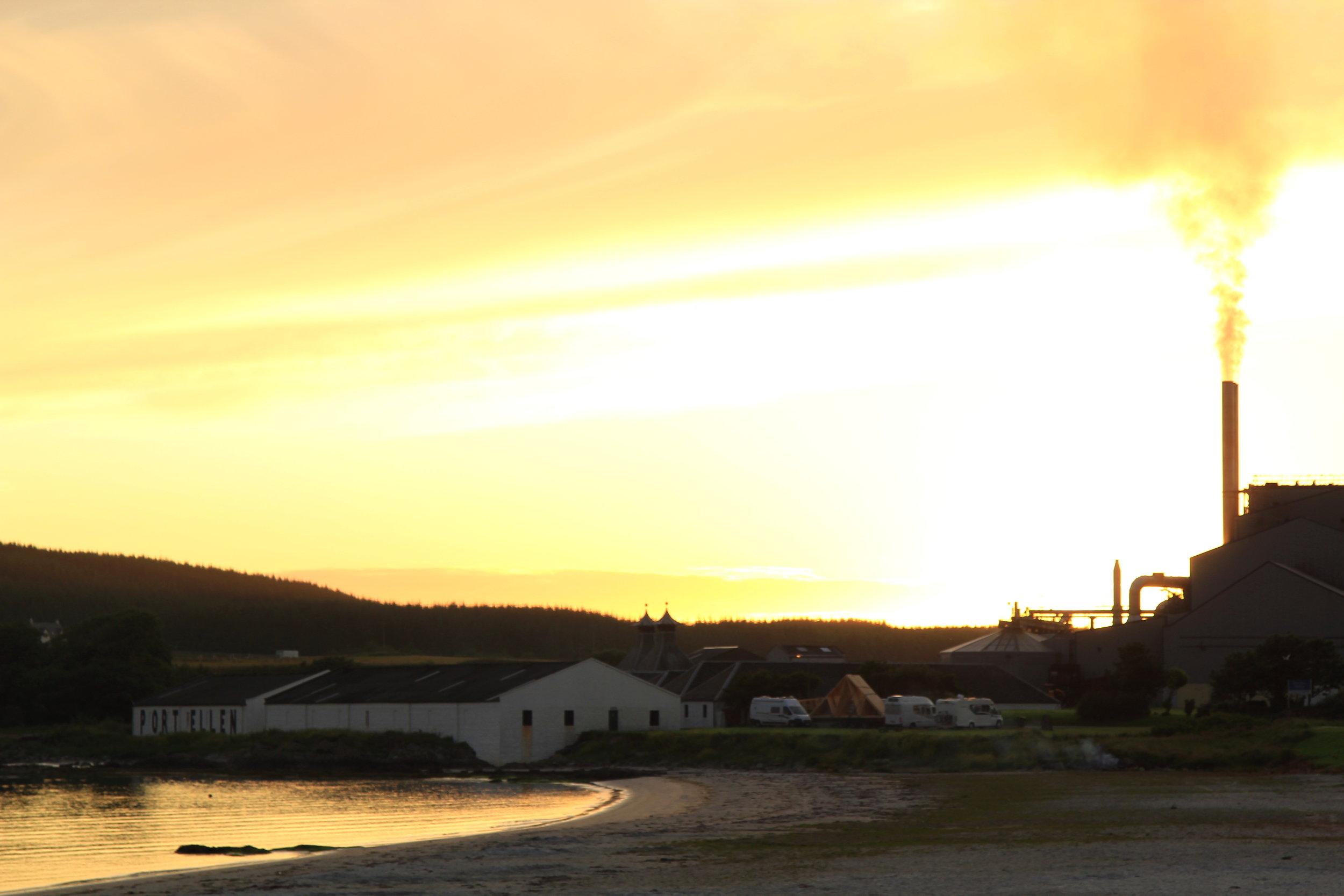 sunset in port ellen