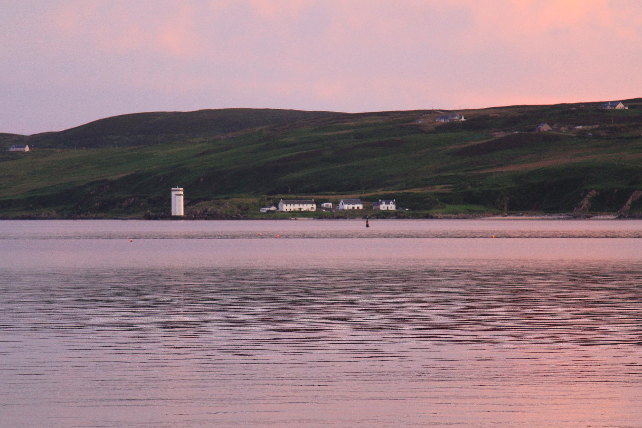 beautiful sunset over Islay, Scotland