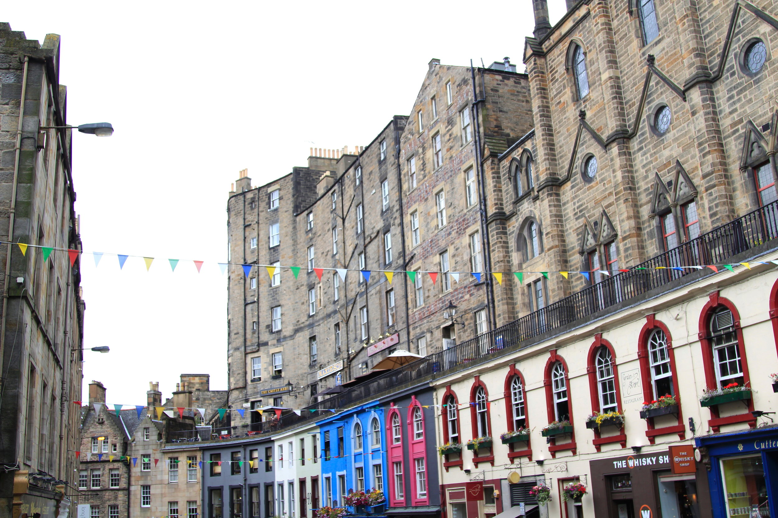 Victoria Street, Edinburgh. Harry Potter inspiration!
