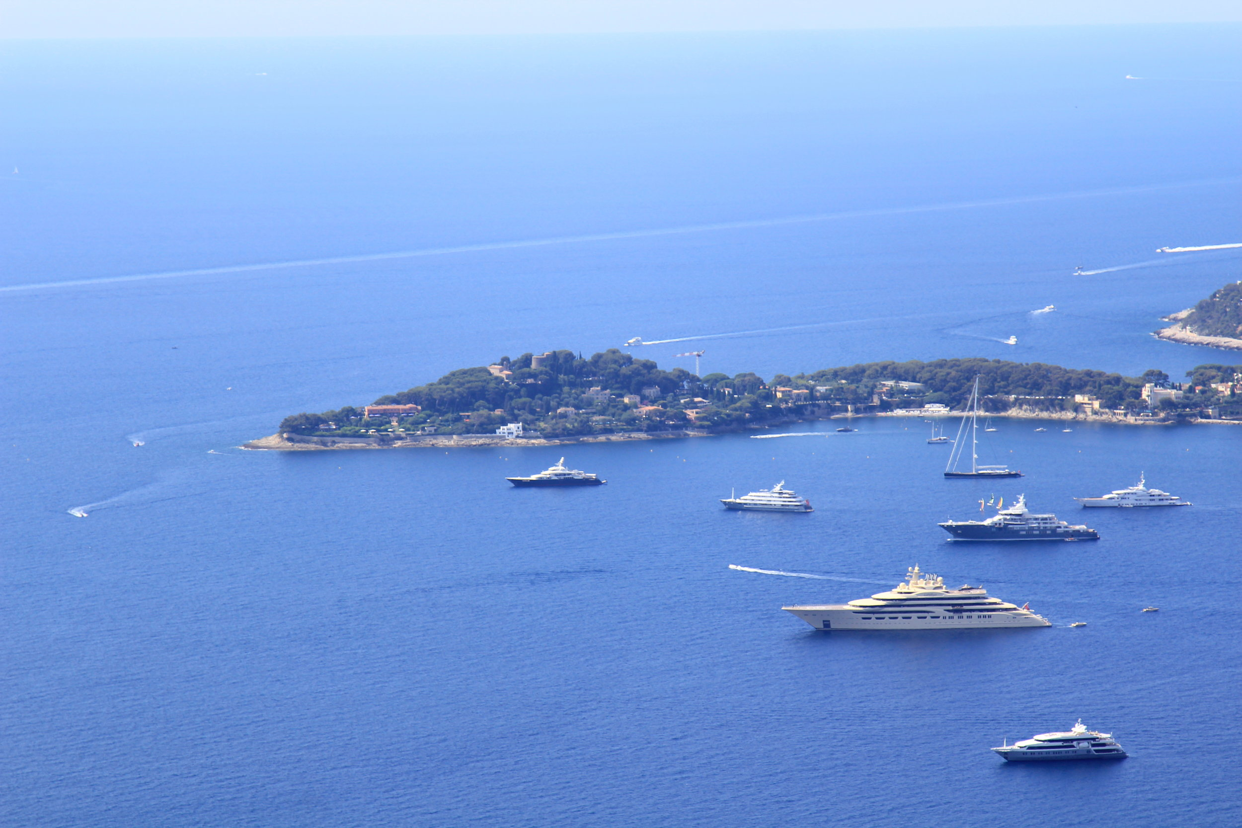 The French Riviera - view from tiny medieval town of Eze