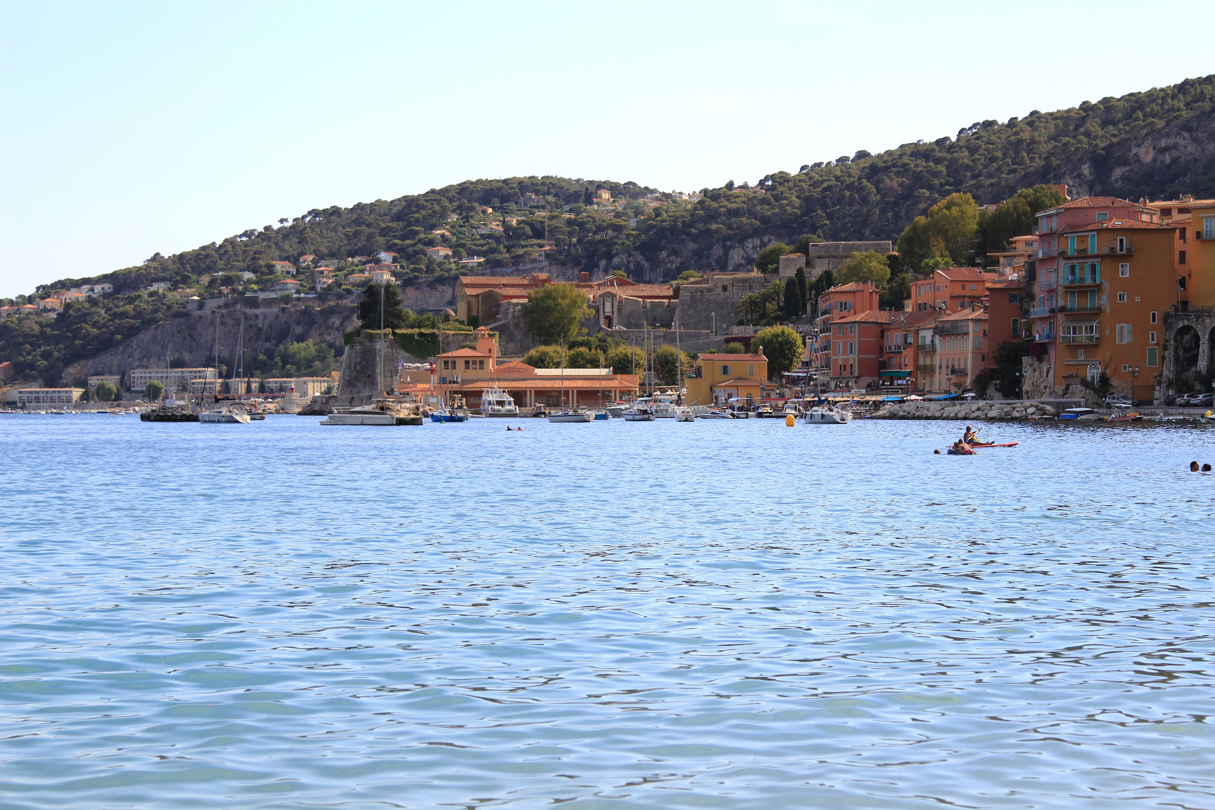 Villefranche-sur-mere, beach town in the South of France