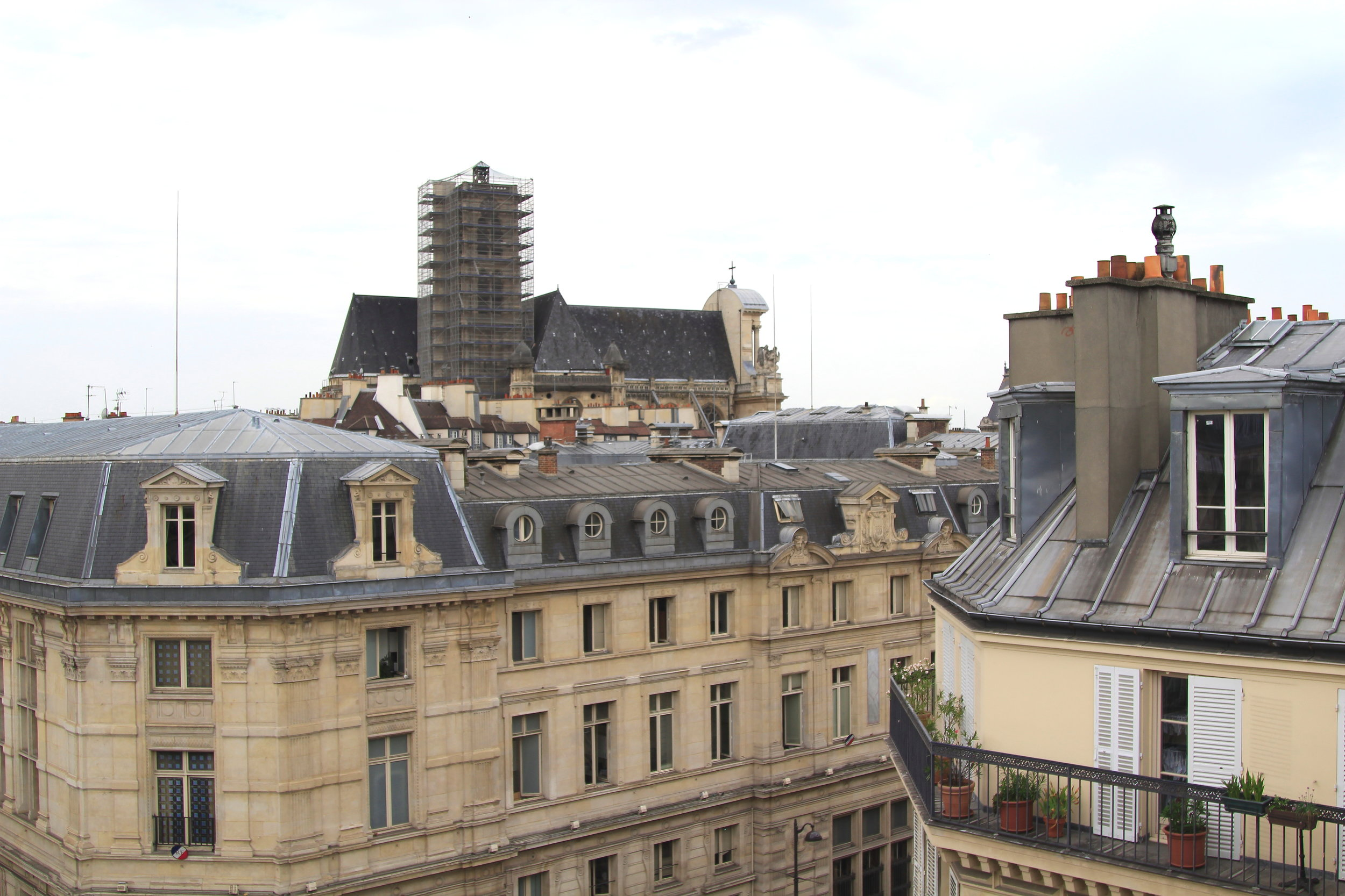 Paris Rooftops in the Marais District