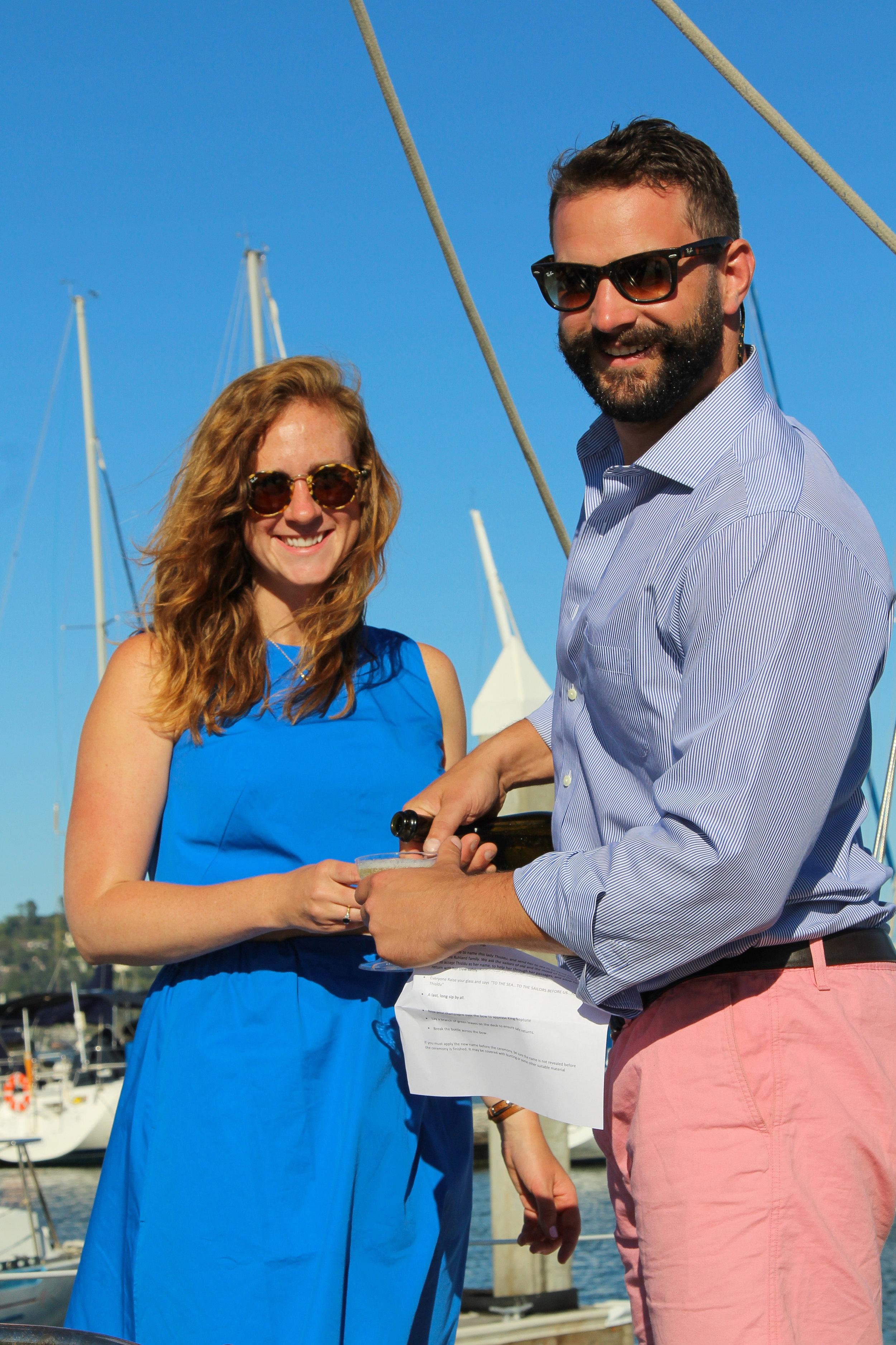 boat renaming ceremony