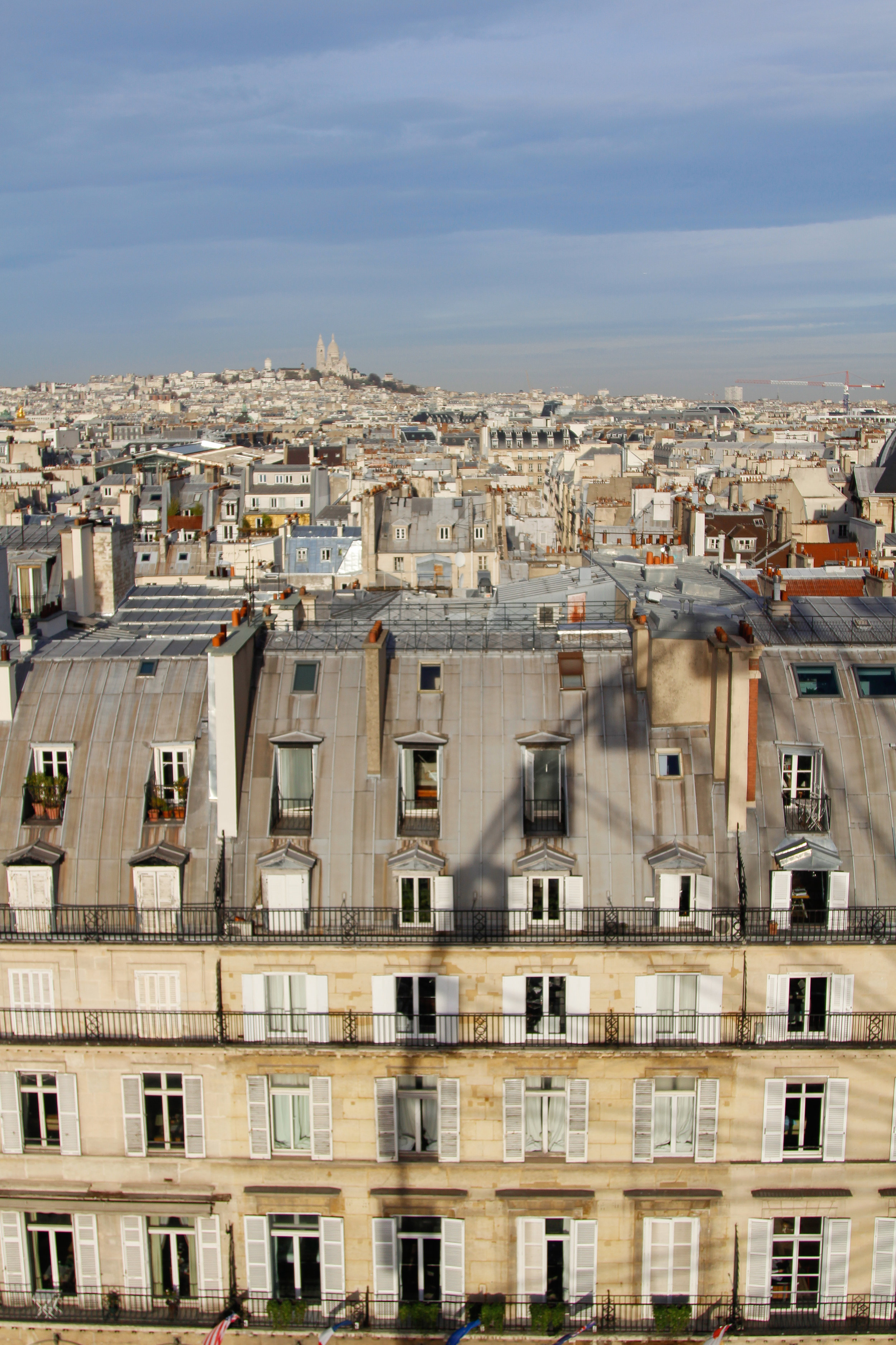 View of Montmartre and Paris from the Jardin des Tuileries ferris wheel - a must-do!
