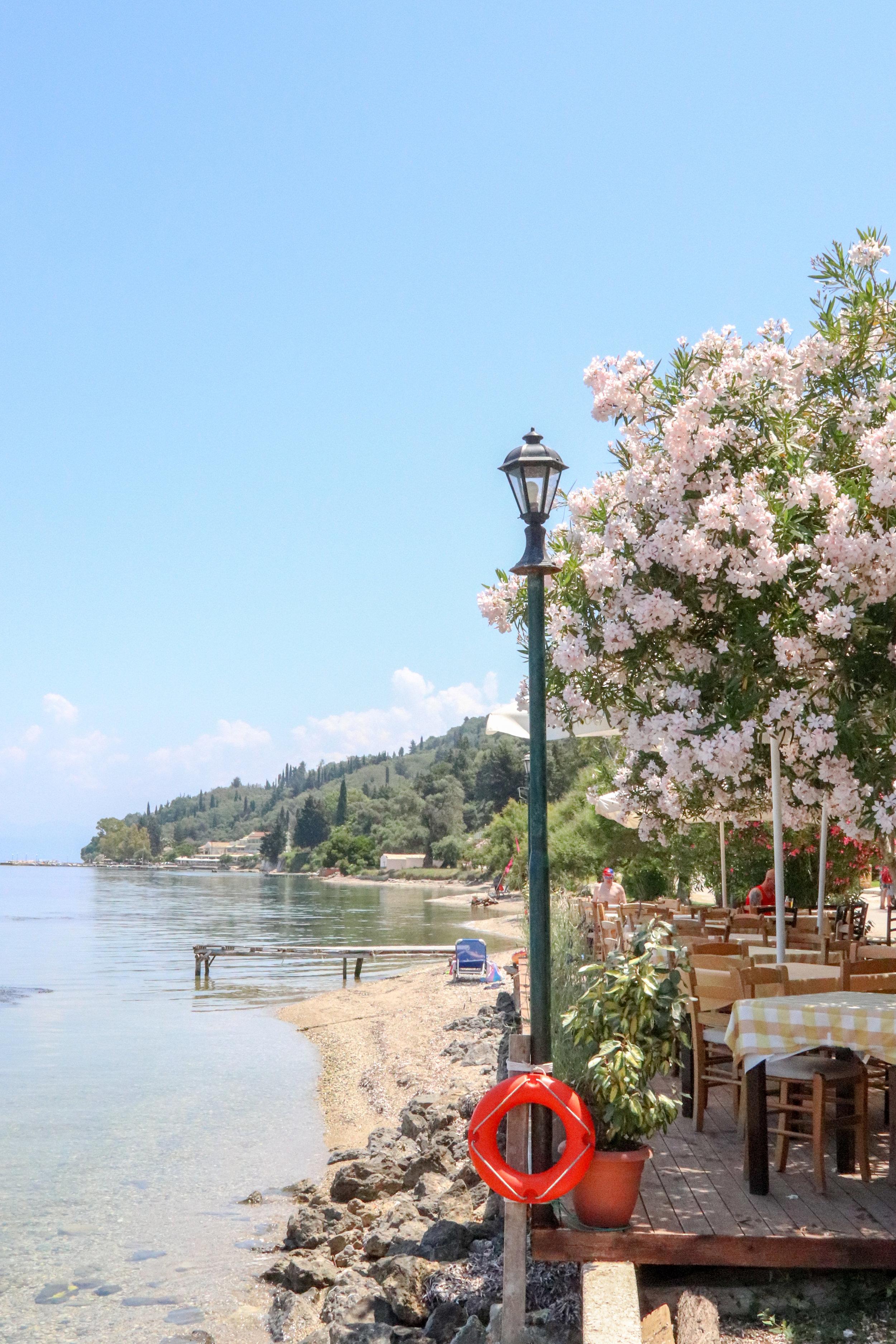 Taverna in Boukari, Corfu, Greece