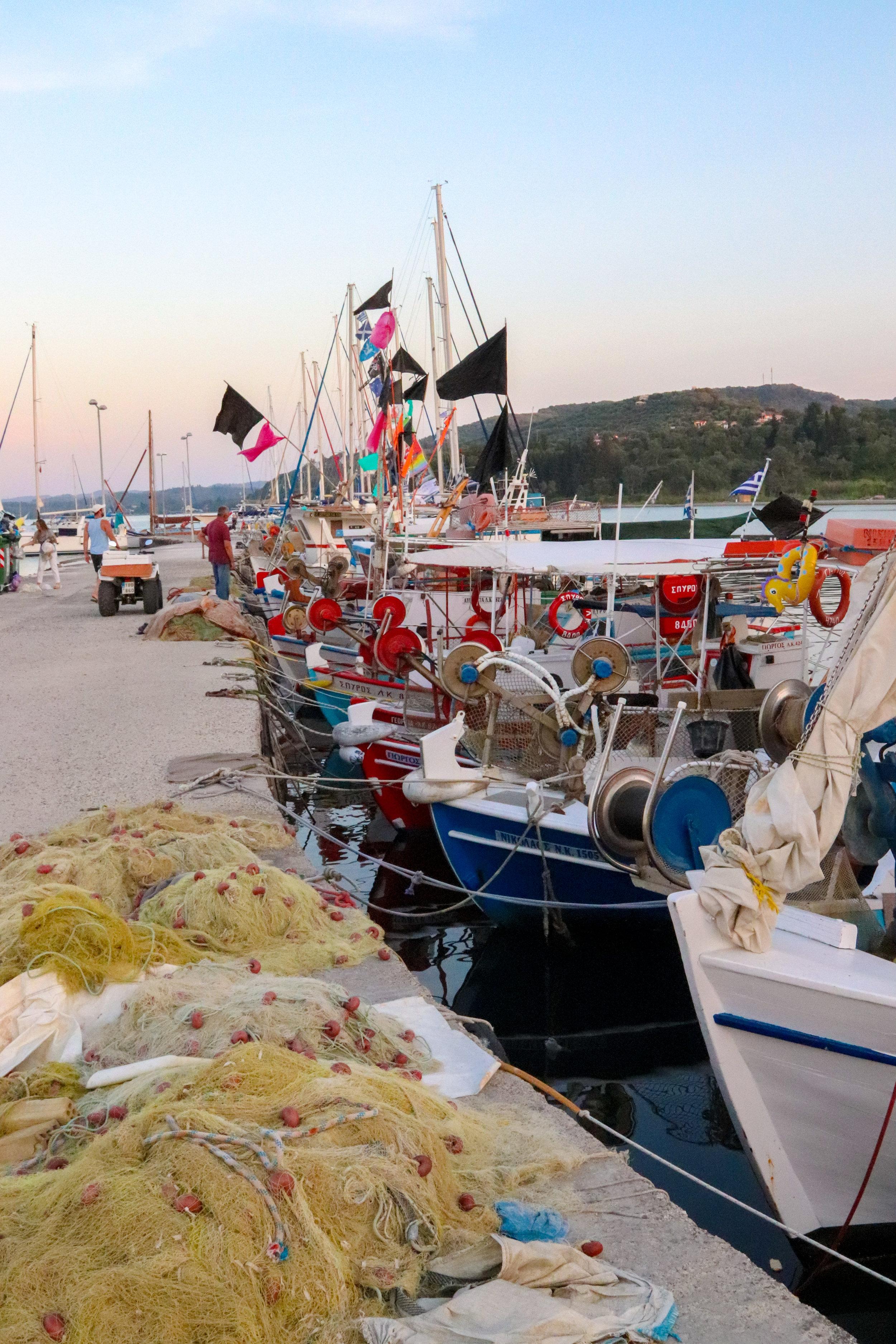 fishing village in Corfu