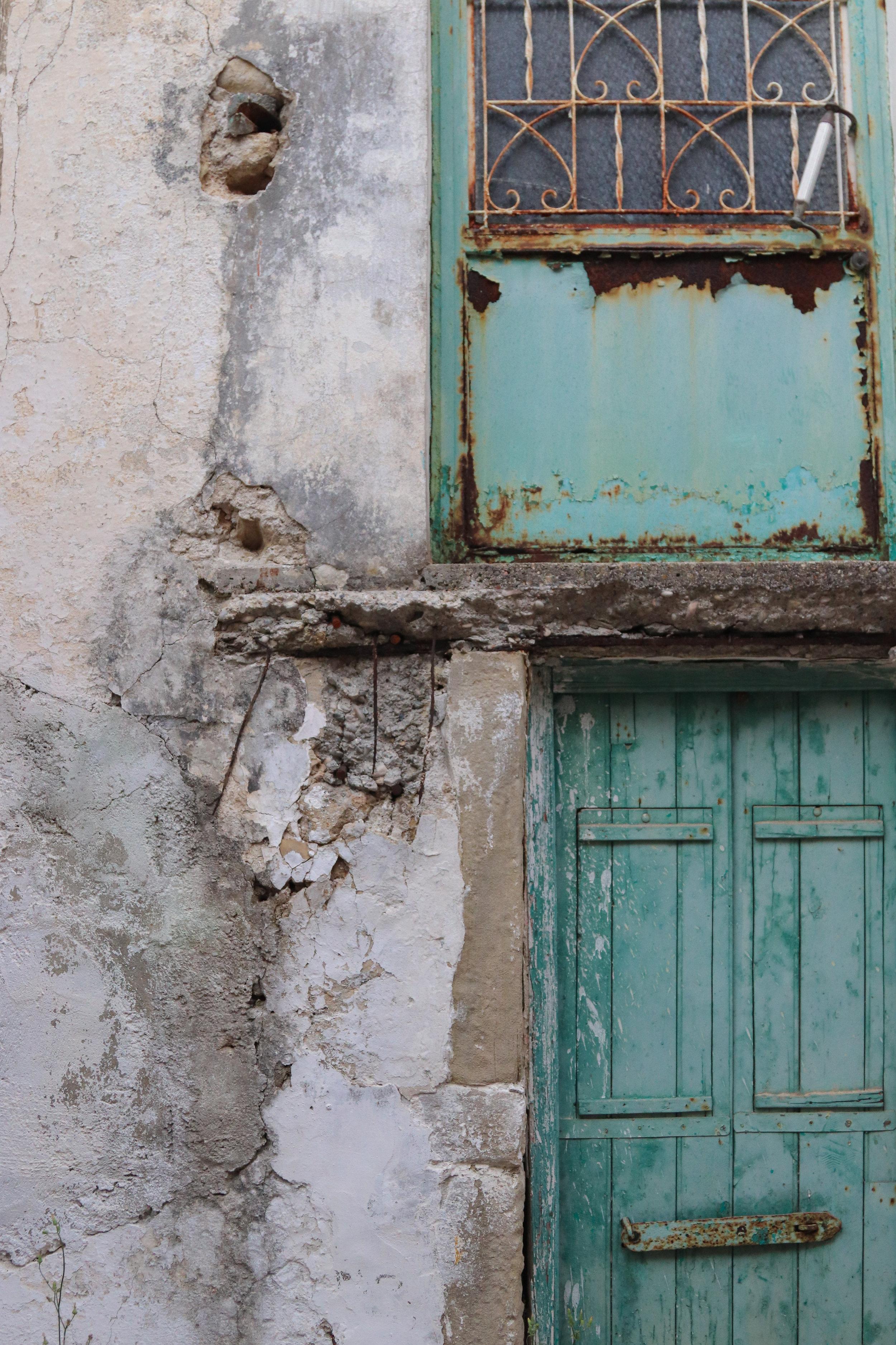 the 13th century village of Chlomos, Greece, in Corfu