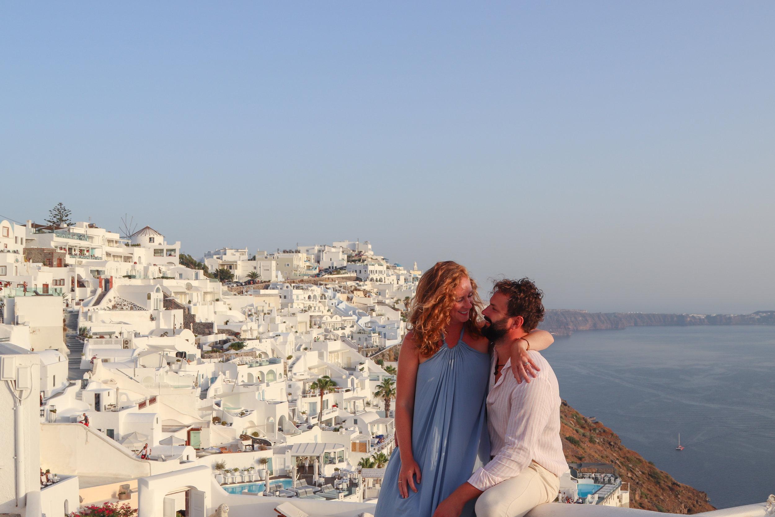 how we spent two weeks in Santorini