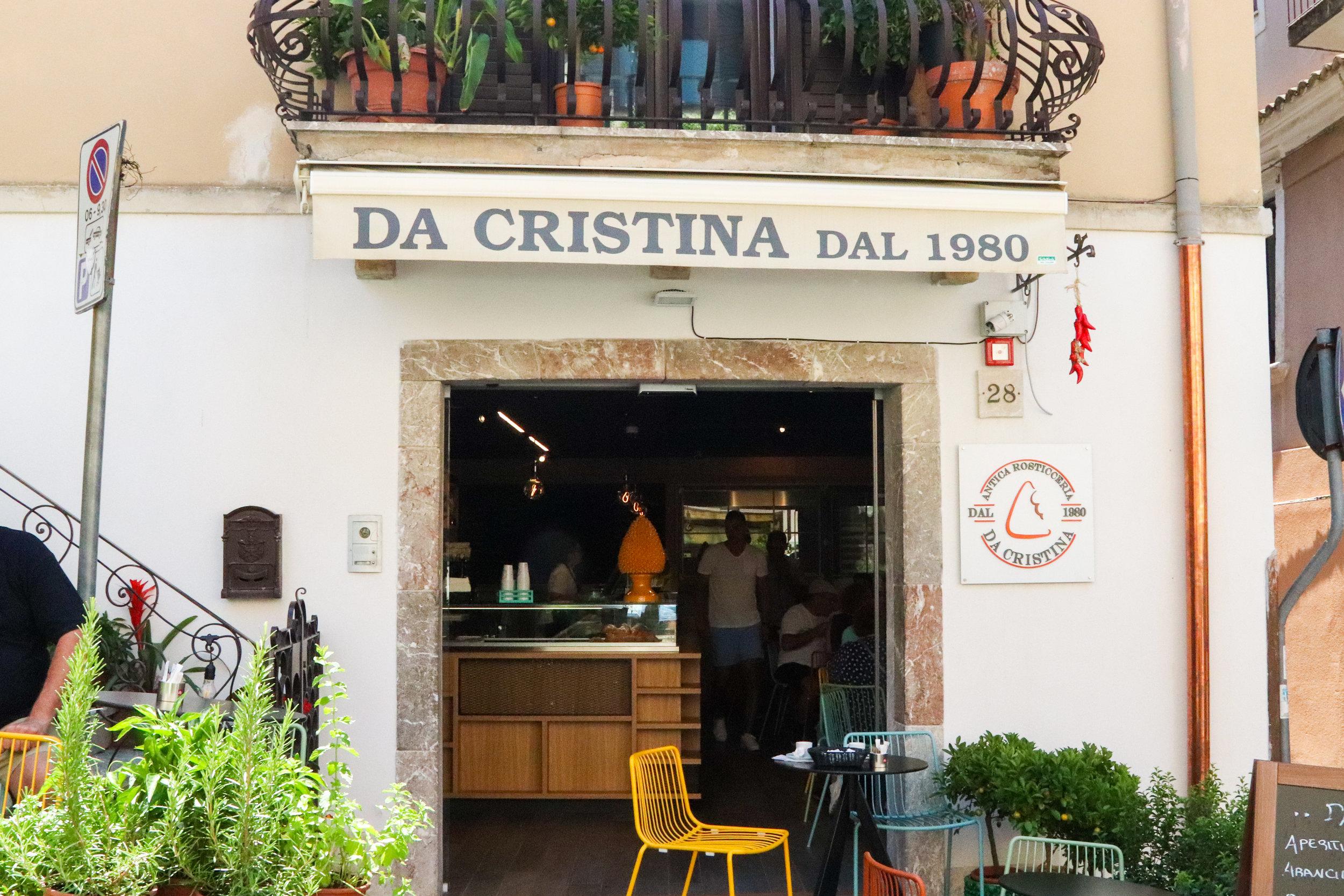 Da Cristina for the BEST arancini in Sicily!